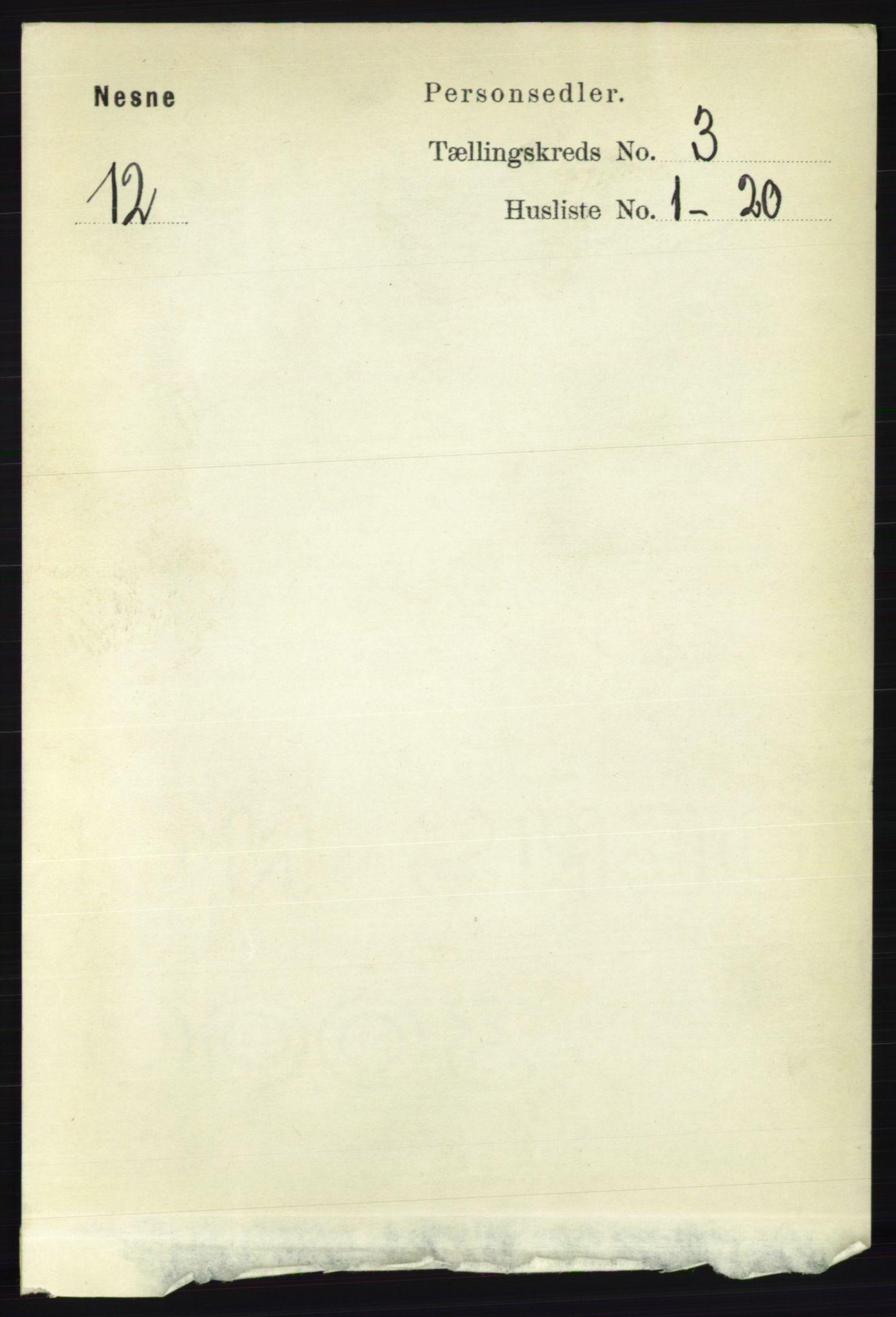 RA, Folketelling 1891 for 1828 Nesna herred, 1891, s. 1497