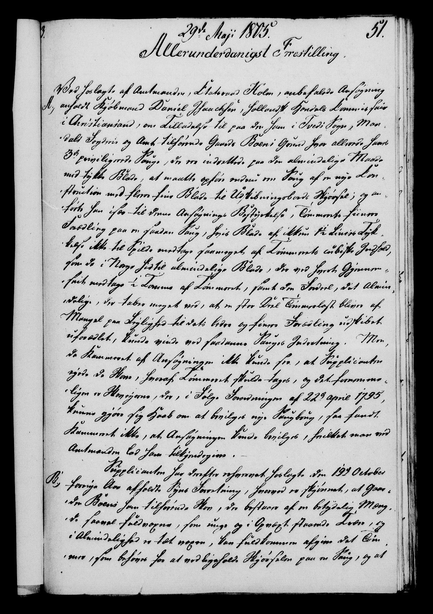 RA, Rentekammeret, Kammerkanselliet, G/Gf/Gfa/L0087: Norsk relasjons- og resolusjonsprotokoll (merket RK 52.87), 1805, s. 310