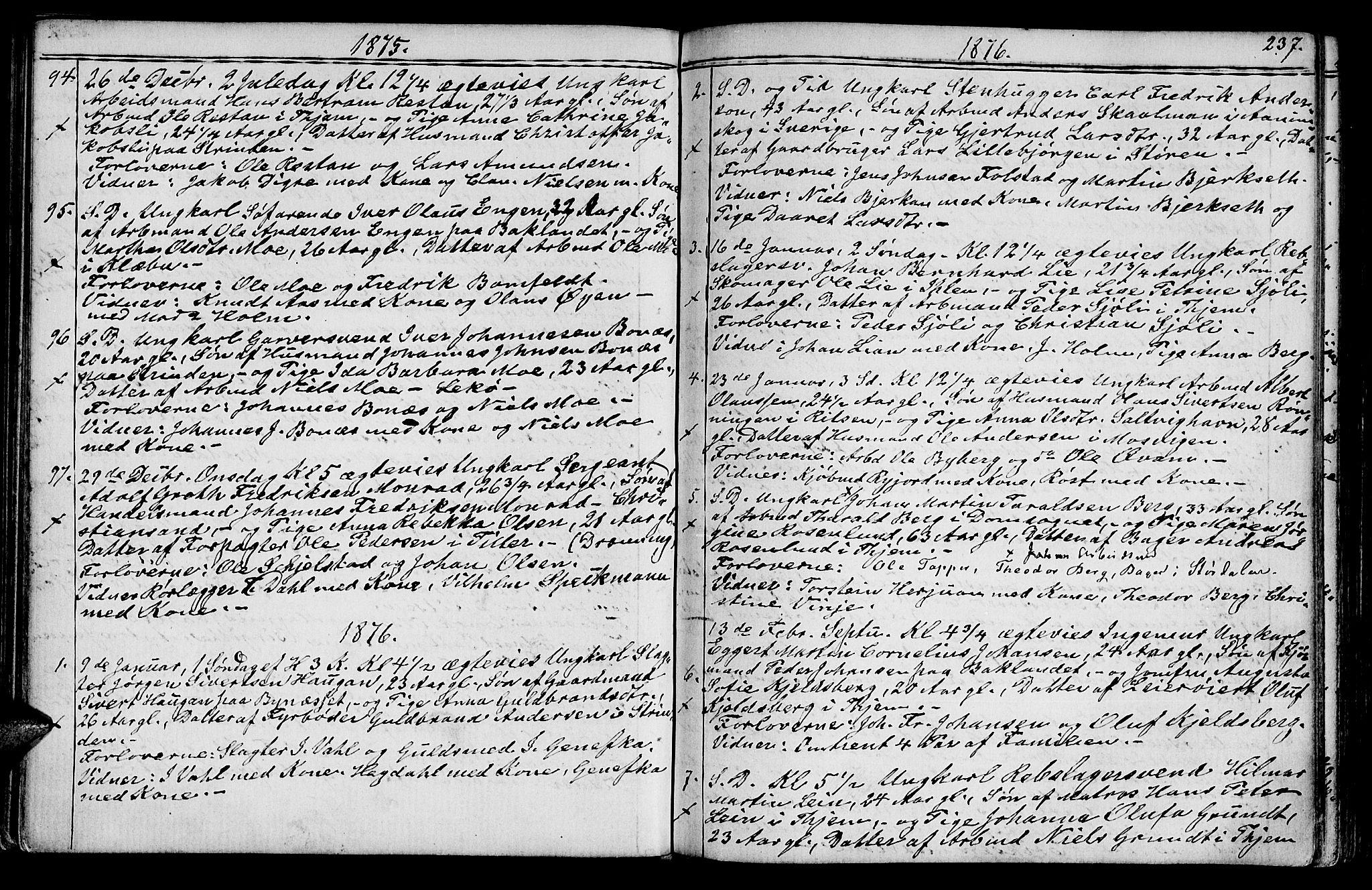 SAT, Ministerialprotokoller, klokkerbøker og fødselsregistre - Sør-Trøndelag, 602/L0142: Klokkerbok nr. 602C10, 1872-1894, s. 237