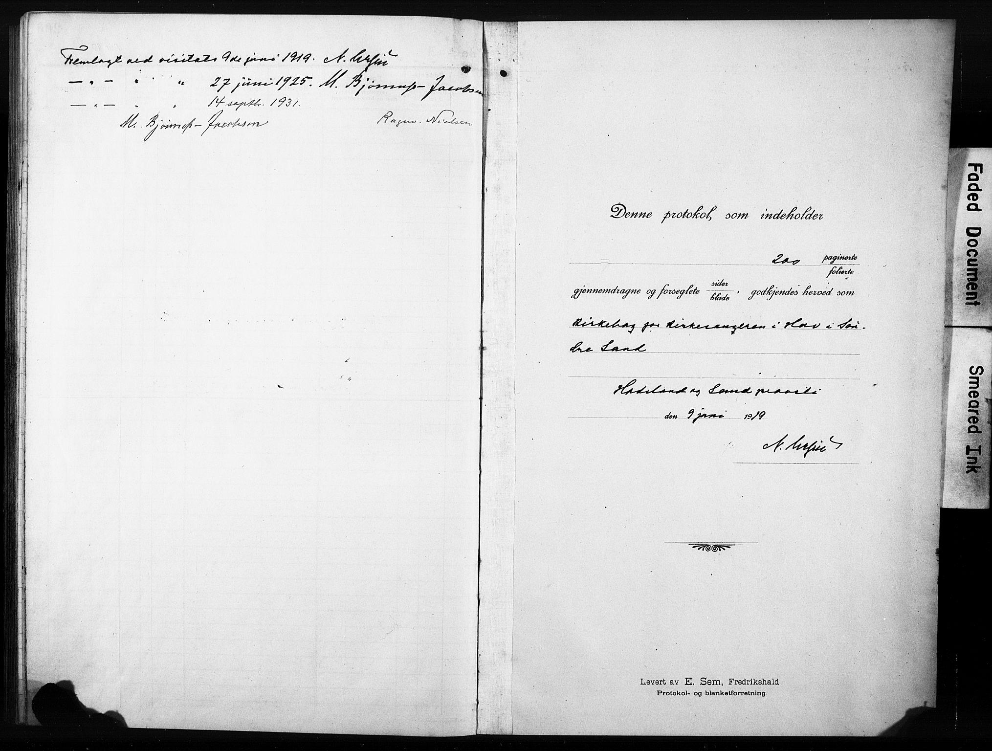 SAH, Søndre Land prestekontor, L/L0007: Klokkerbok nr. 7, 1915-1932