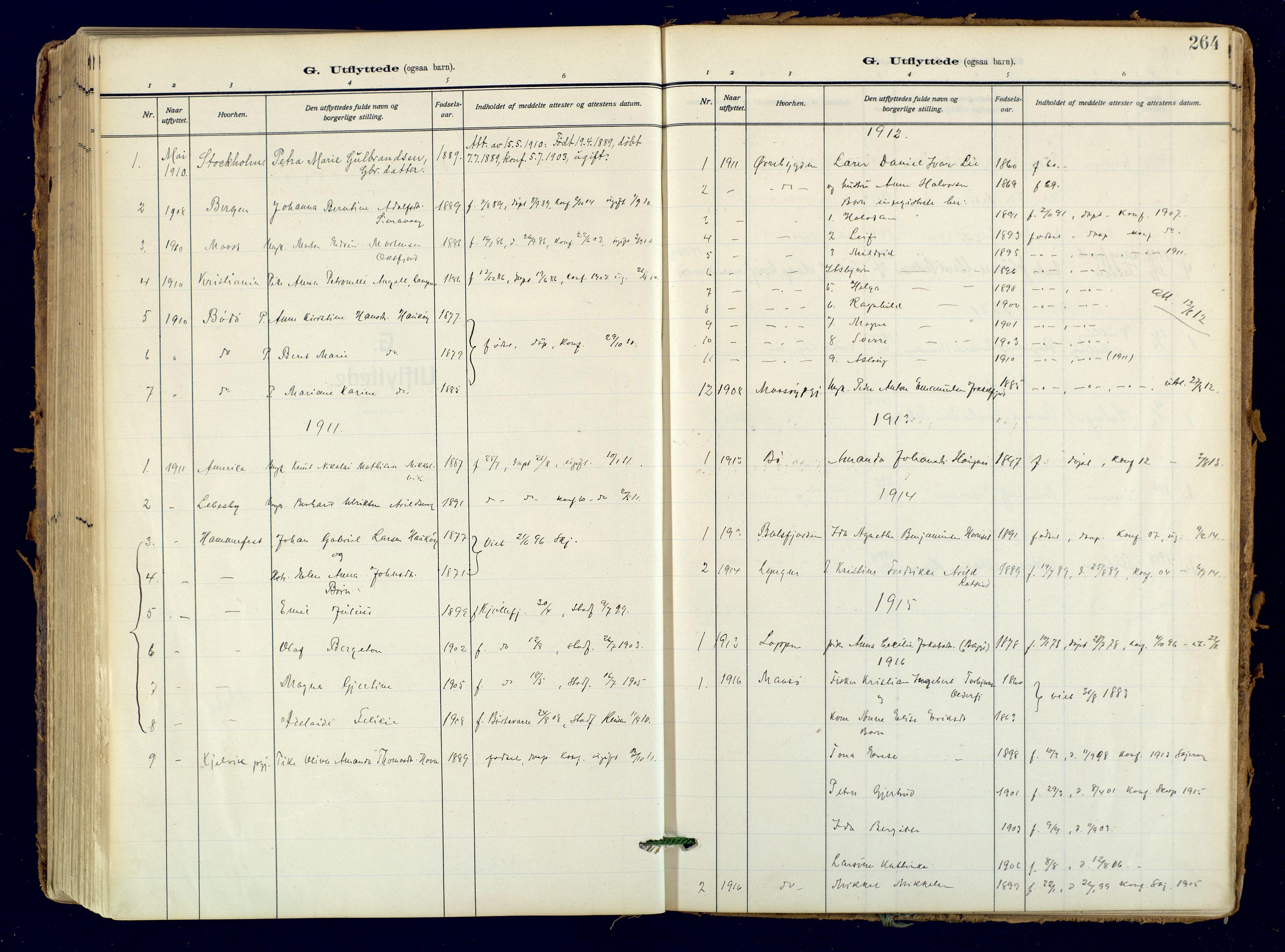 SATØ, Skjervøy sokneprestkontor, H/Ha/Haa: Ministerialbok nr. 18, 1910-1926, s. 264