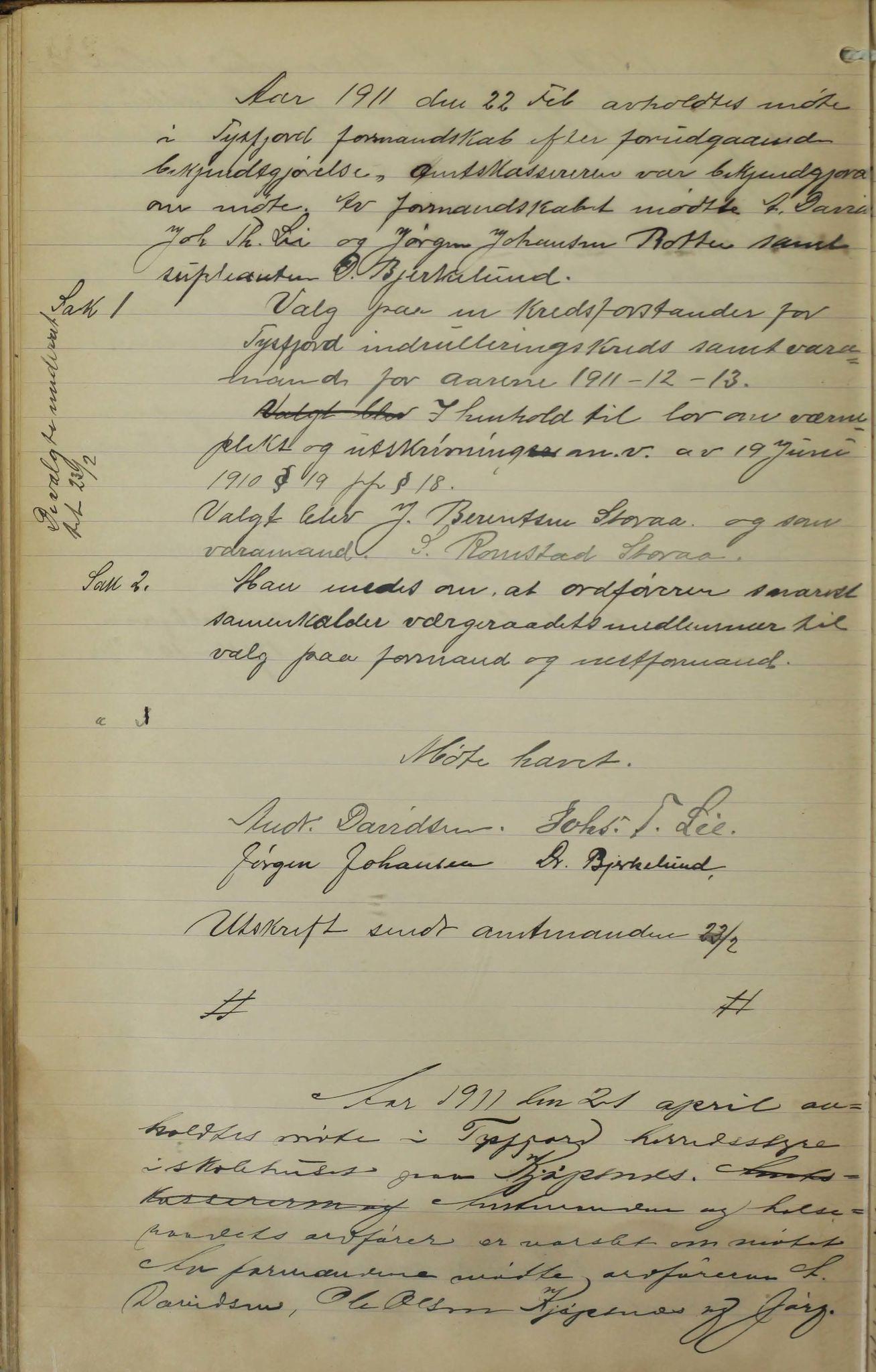 AIN, Tysfjord kommune. Formannskapet, 100/L0002: Forhandlingsprotokoll for Tysfjordens formandskap, 1895-1912, s. 244b