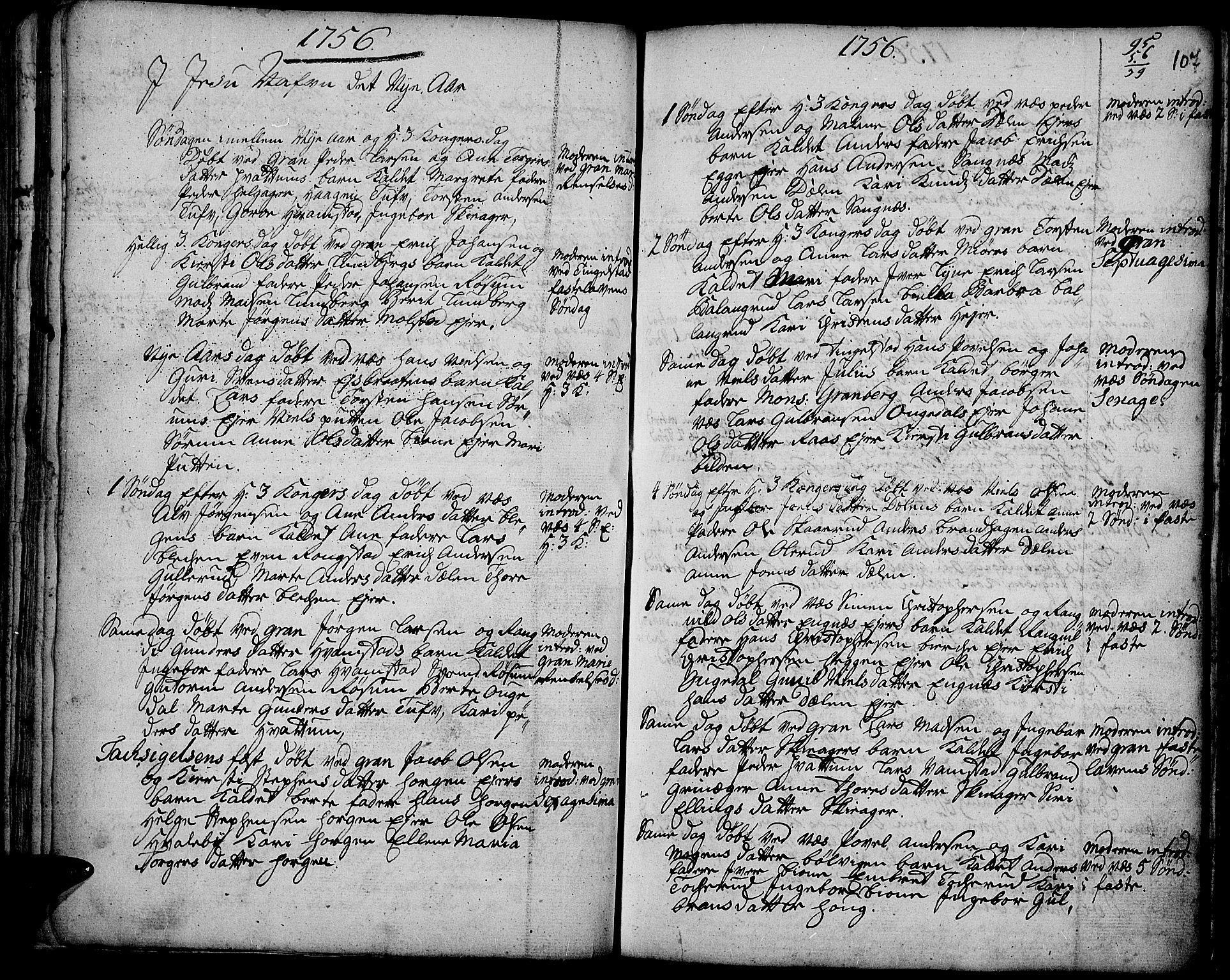 SAH, Gran prestekontor, Ministerialbok nr. 3, 1745-1758, s. 107