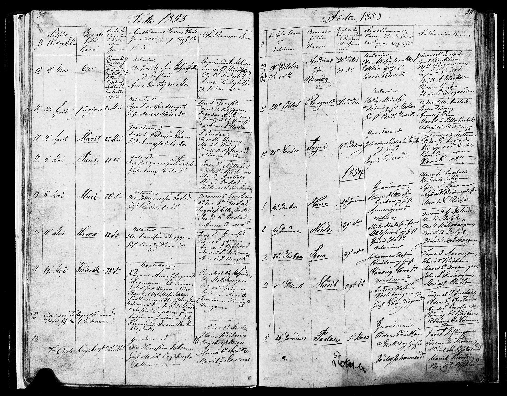 SAH, Lesja prestekontor, Klokkerbok nr. 4, 1842-1871, s. 37-38
