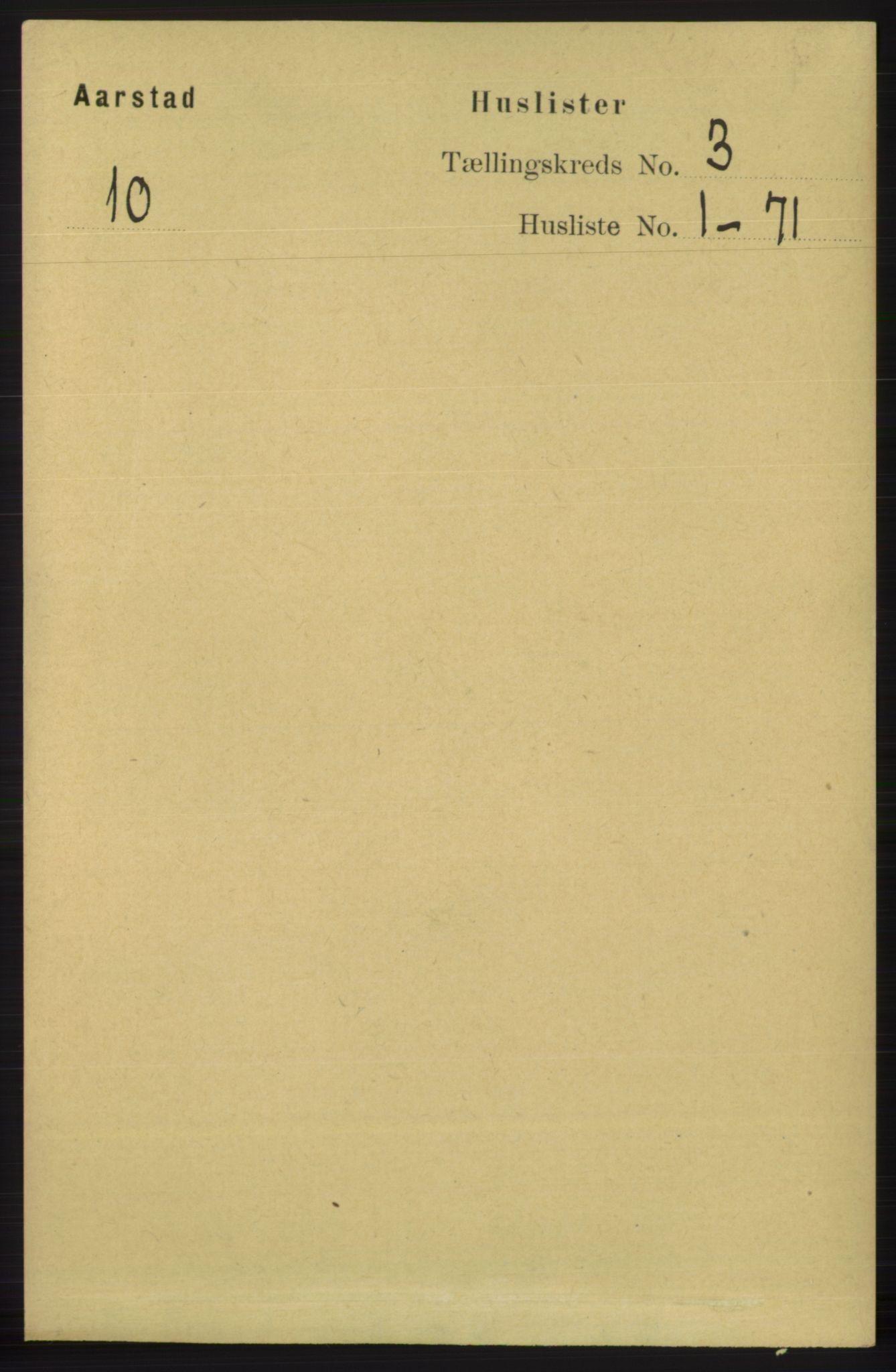 SAB, Folketelling 1891 for 1280 Årstad herred, 1891, s. 1501