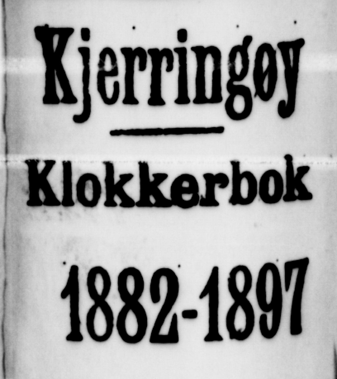 SAT, Ministerialprotokoller, klokkerbøker og fødselsregistre - Nordland, 803/L0076: Klokkerbok nr. 803C03, 1882-1897