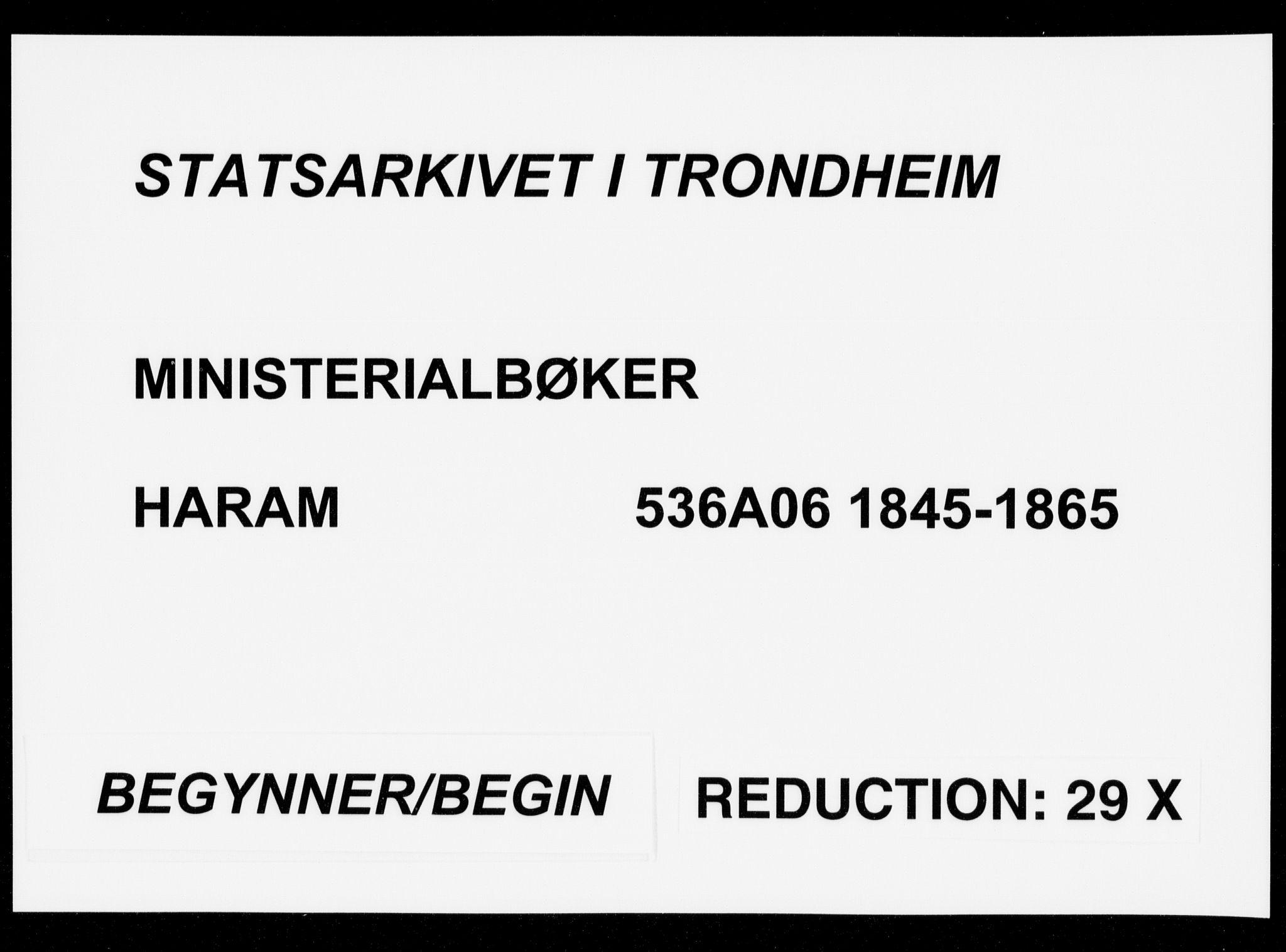 SAT, Ministerialprotokoller, klokkerbøker og fødselsregistre - Møre og Romsdal, 536/L0497: Ministerialbok nr. 536A06, 1845-1865
