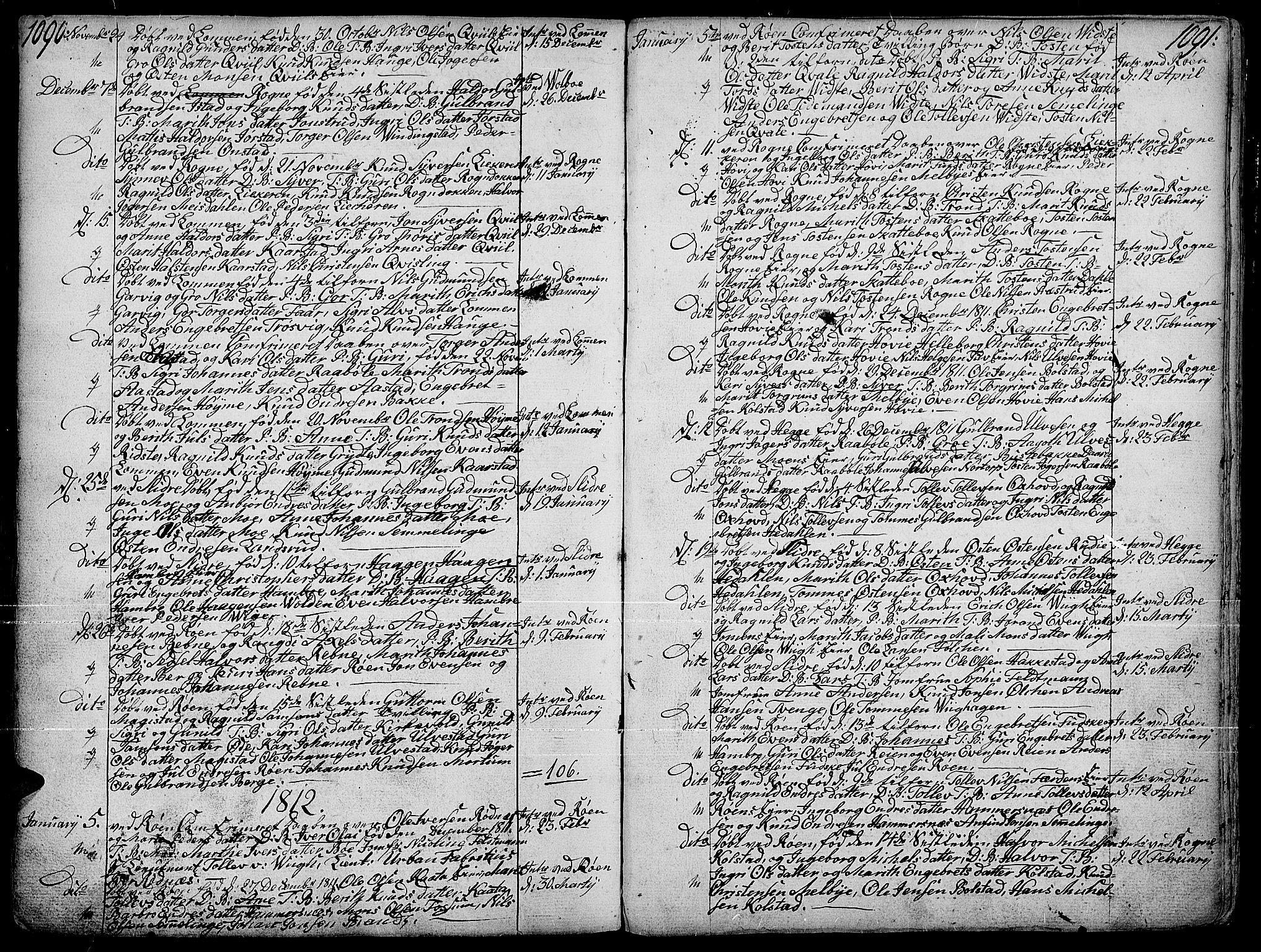 SAH, Slidre prestekontor, Ministerialbok nr. 1, 1724-1814, s. 1090-1091