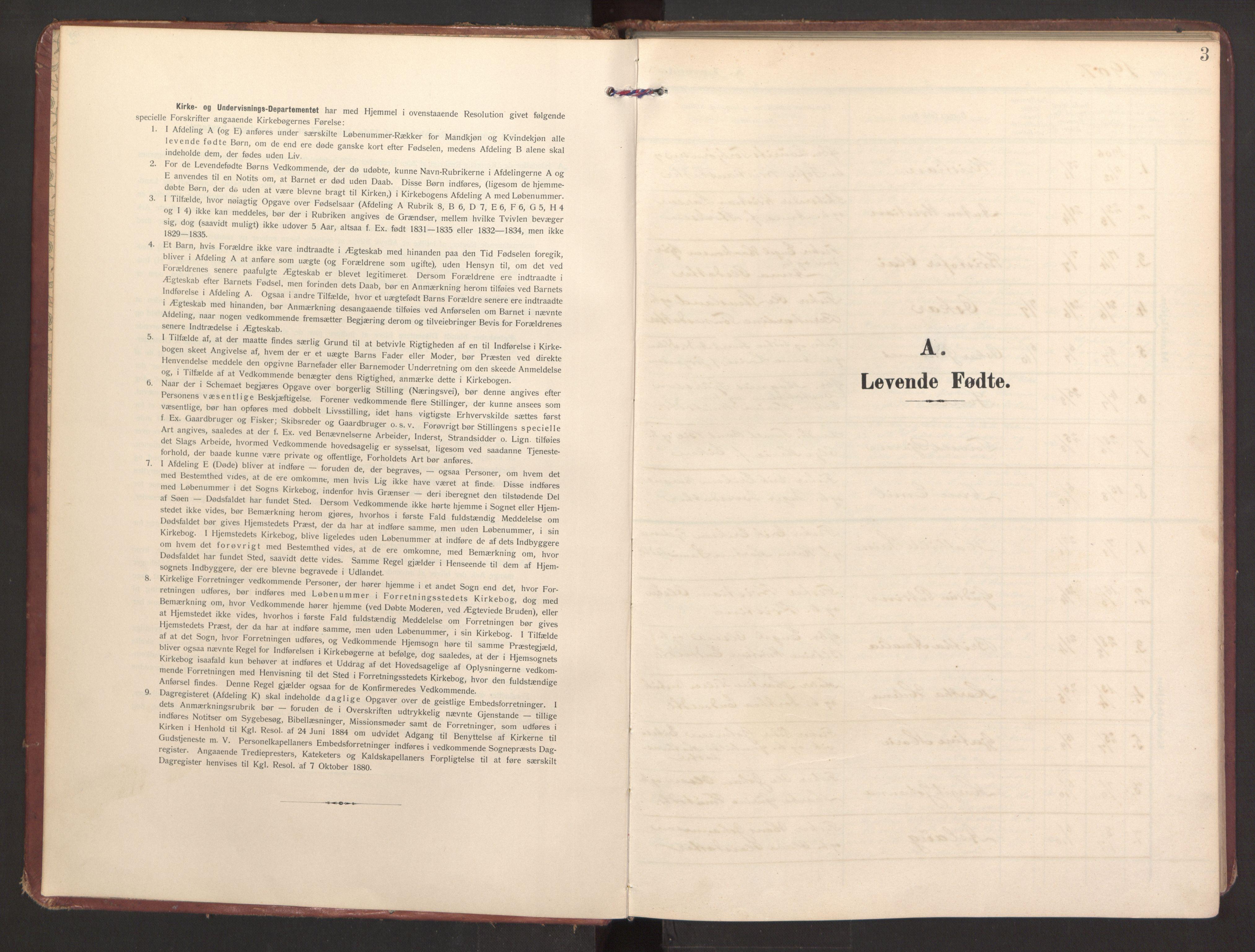 SAB, Finnås sokneprestembete, H/Ha/Haa/Haad/L0003: Ministerialbok nr. D 3, 1907-1921, s. 3