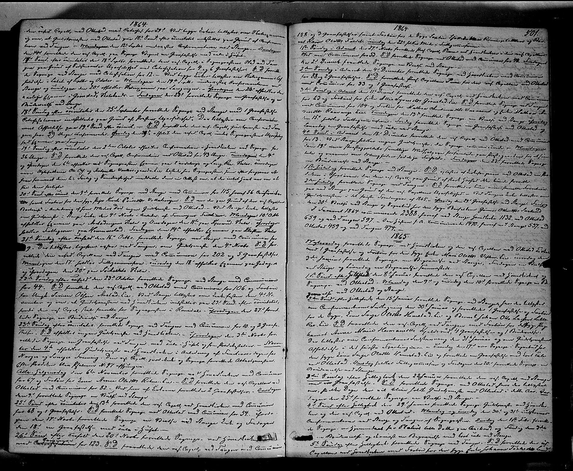 SAH, Stange prestekontor, K/L0013: Ministerialbok nr. 13, 1862-1879, s. 501
