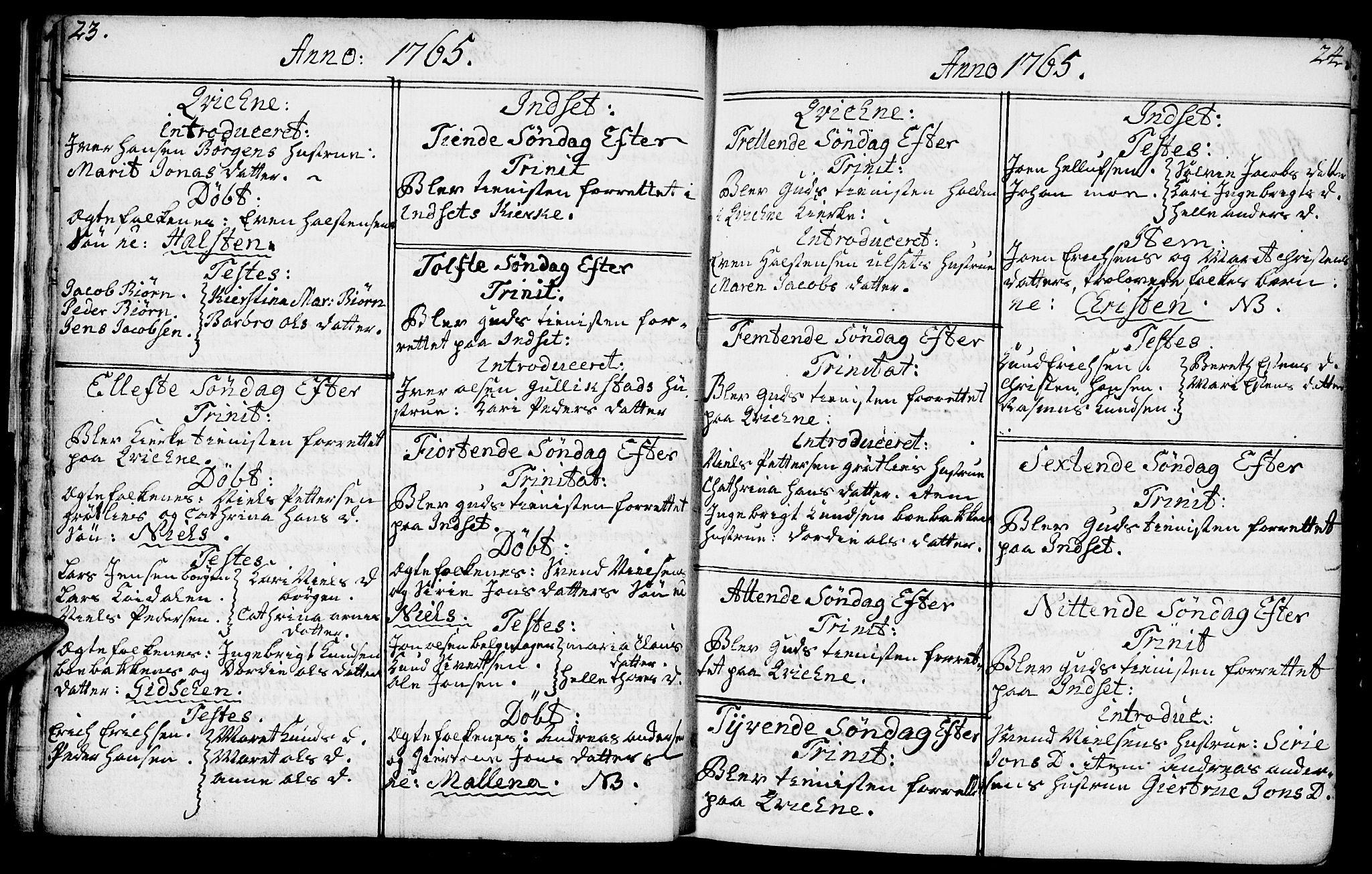 SAH, Kvikne prestekontor, Ministerialbok nr. 2, 1764-1784, s. 23-24