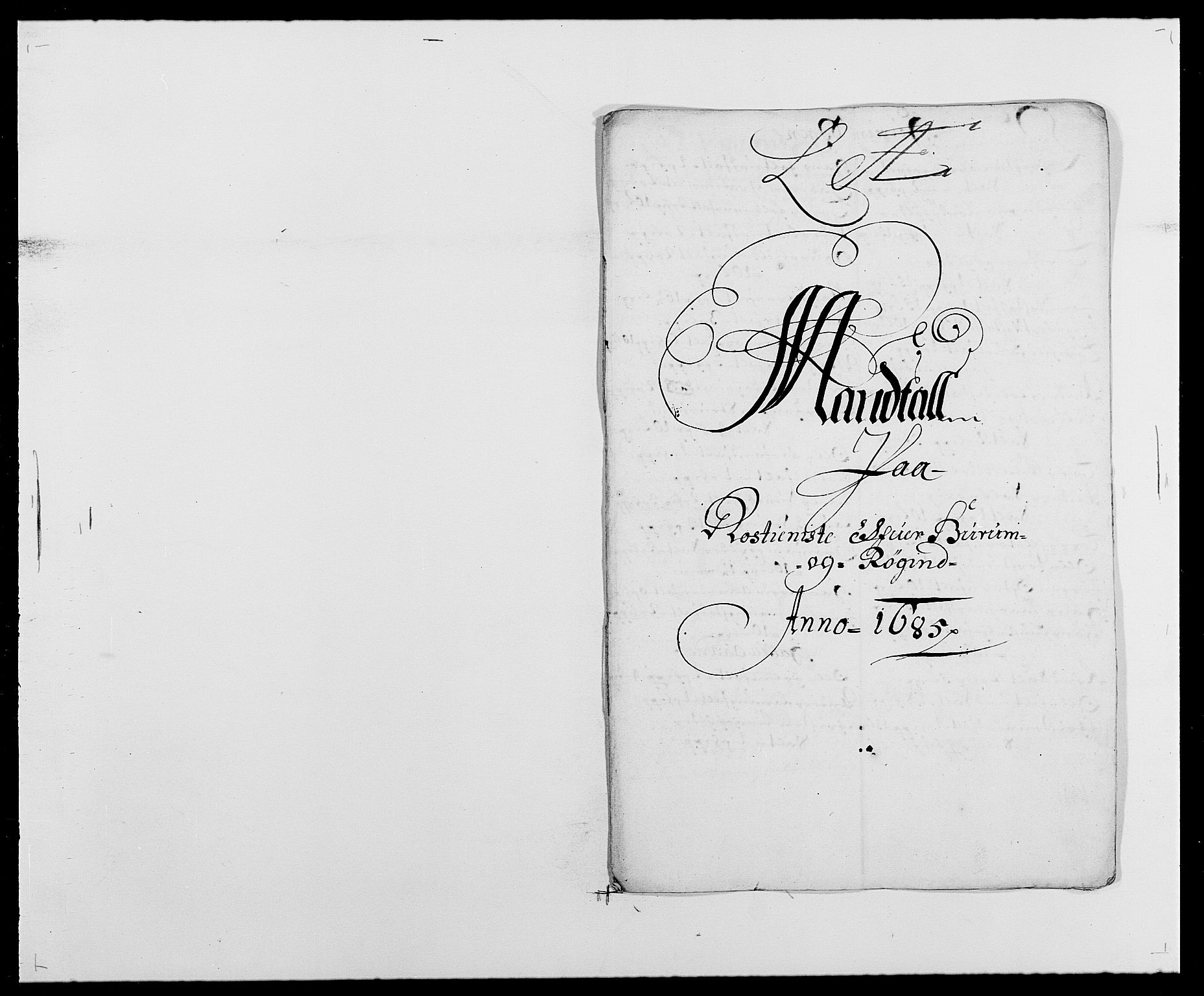 RA, Rentekammeret inntil 1814, Reviderte regnskaper, Fogderegnskap, R29/L1692: Fogderegnskap Hurum og Røyken, 1682-1687, s. 261