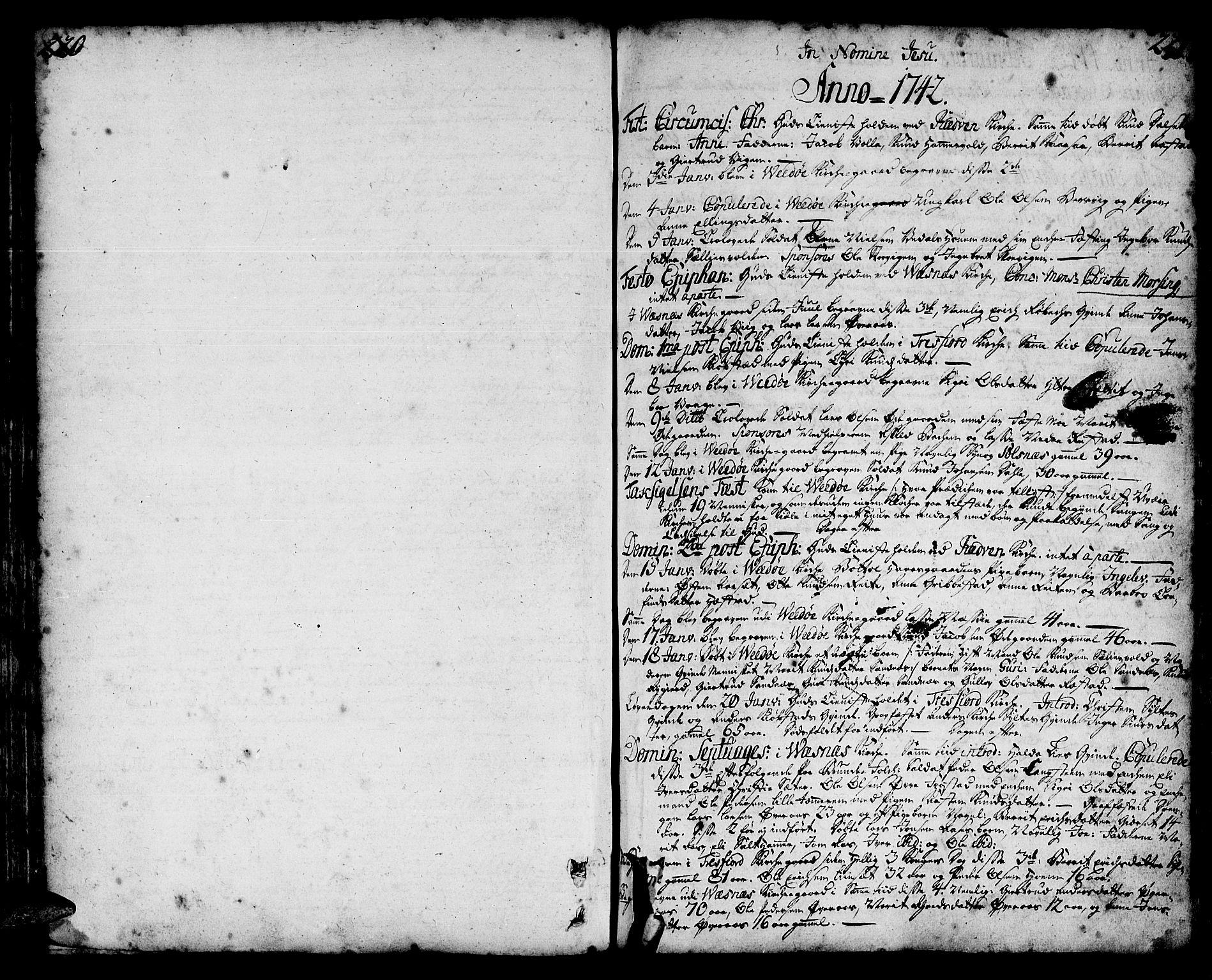 SAT, Ministerialprotokoller, klokkerbøker og fødselsregistre - Møre og Romsdal, 547/L0599: Ministerialbok nr. 547A01, 1721-1764, s. 220-221