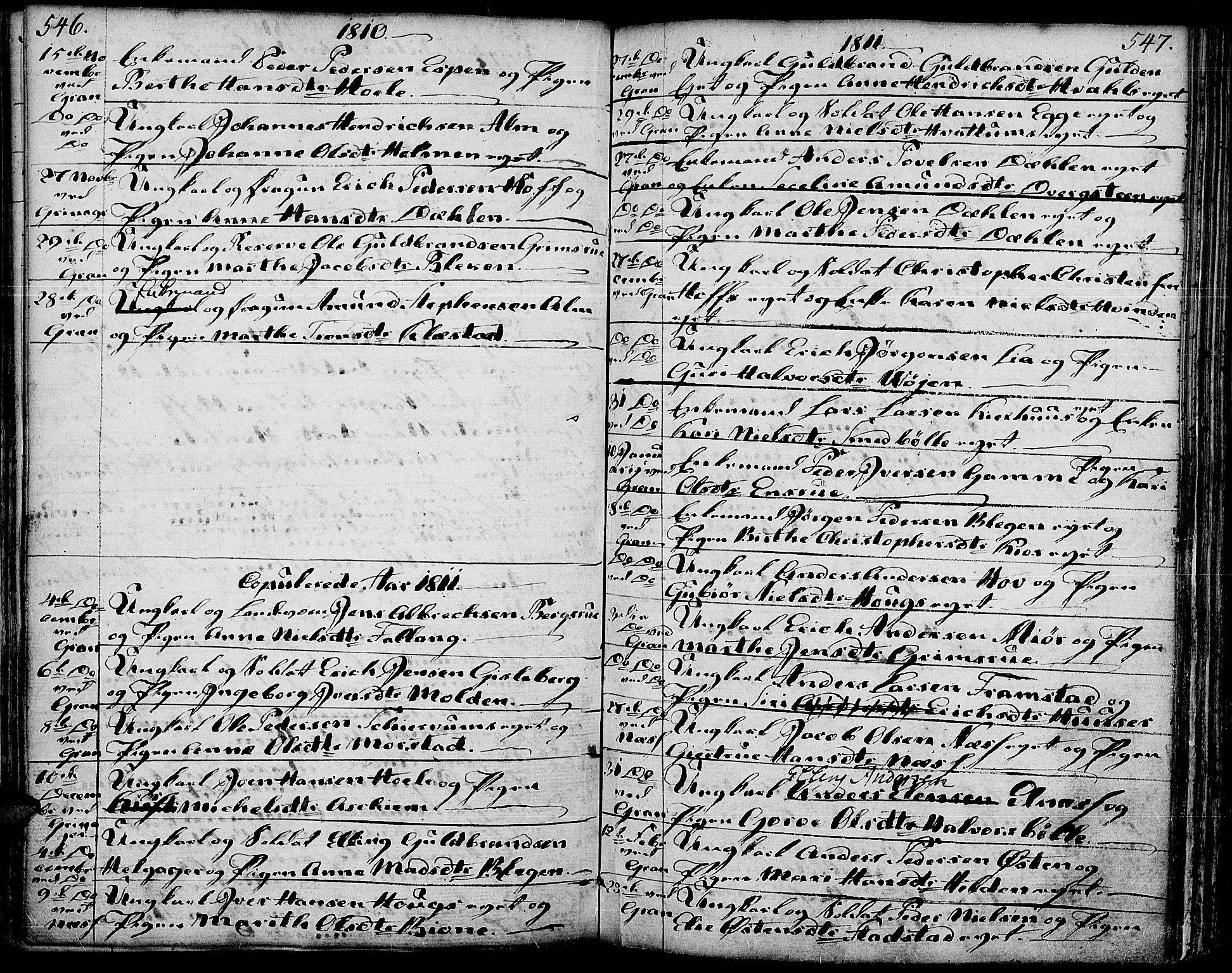 SAH, Gran prestekontor, Ministerialbok nr. 6, 1787-1824, s. 546-547