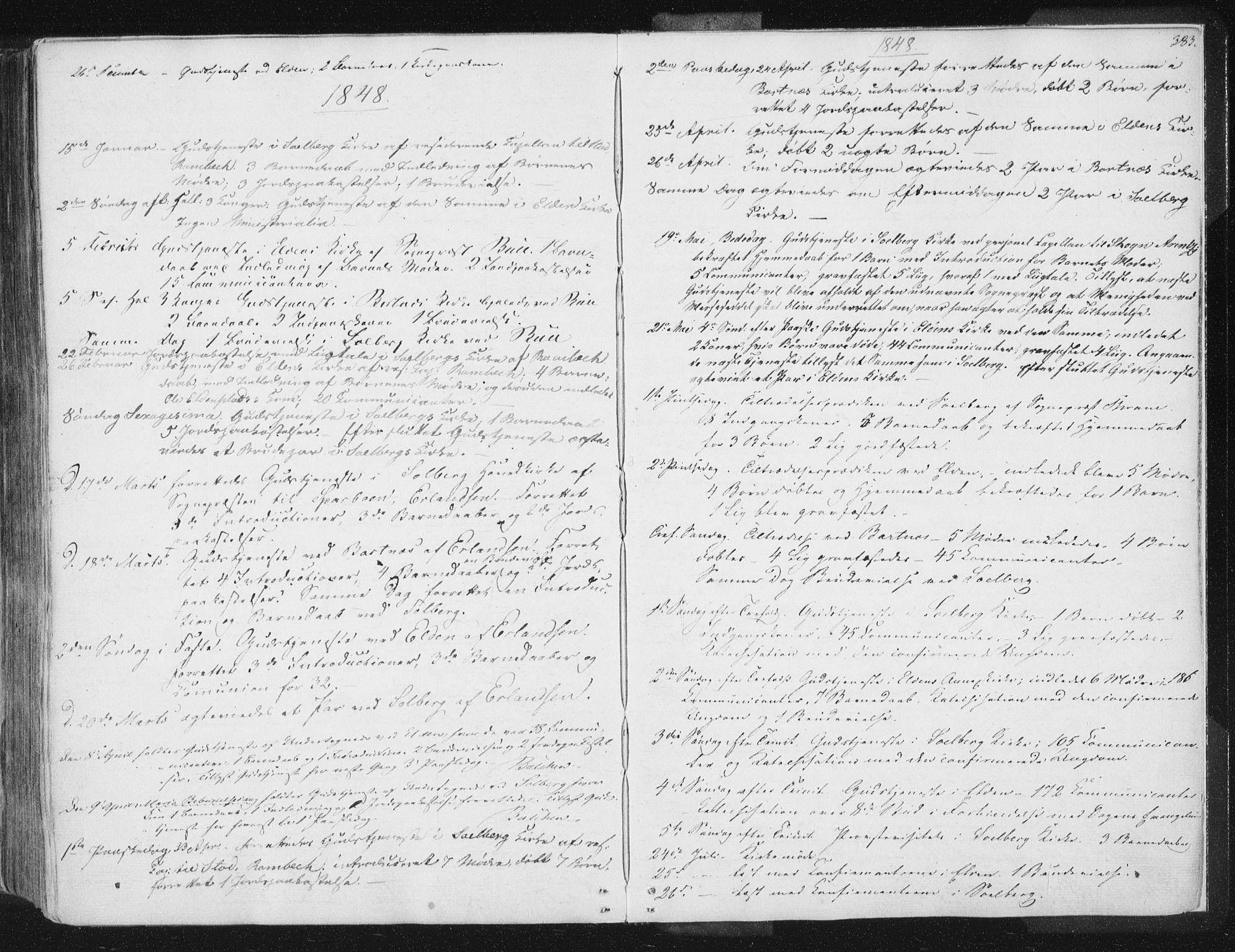 SAT, Ministerialprotokoller, klokkerbøker og fødselsregistre - Nord-Trøndelag, 741/L0392: Ministerialbok nr. 741A06, 1836-1848, s. 383