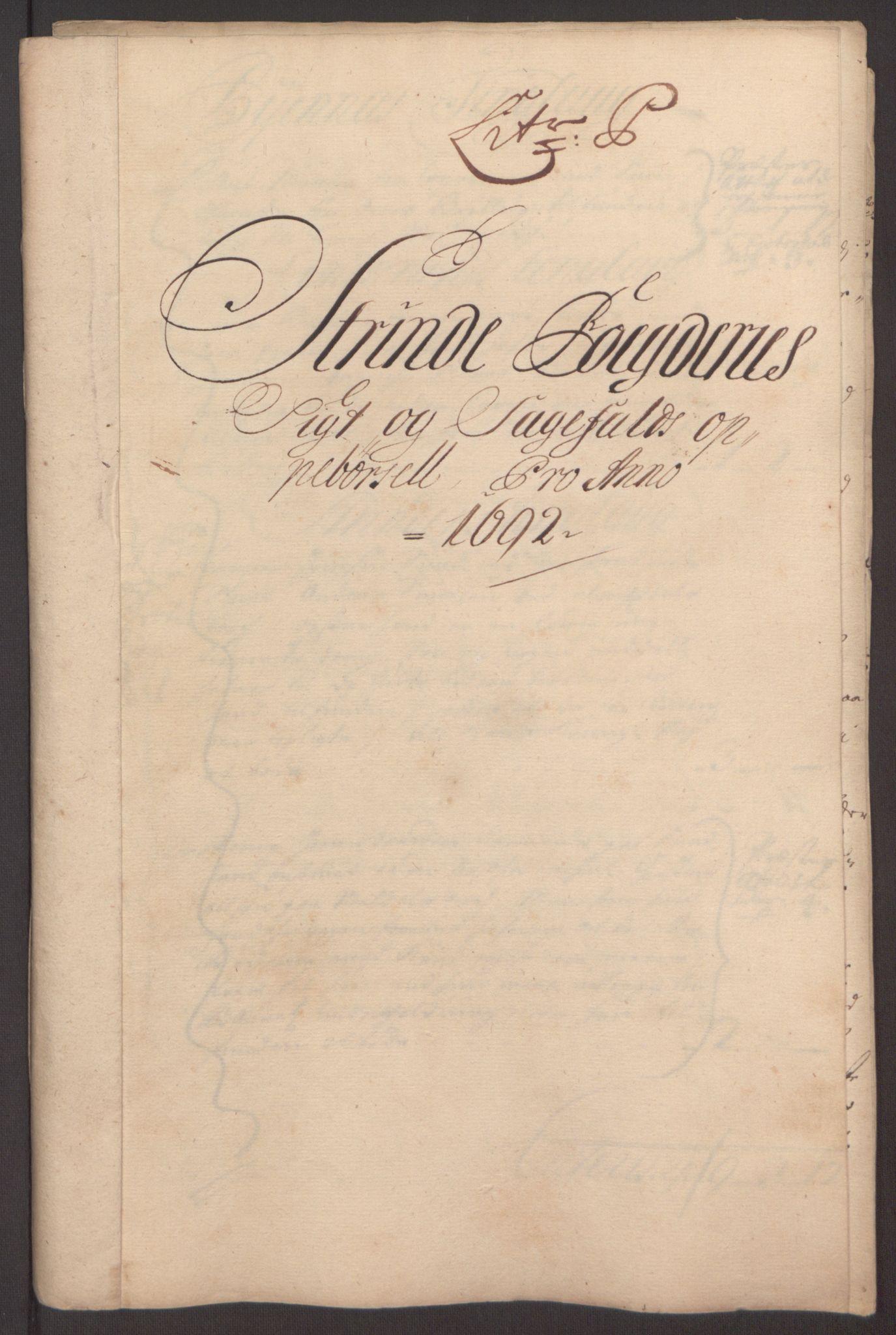 RA, Rentekammeret inntil 1814, Reviderte regnskaper, Fogderegnskap, R61/L4103: Fogderegnskap Strinda og Selbu, 1691-1692, s. 372