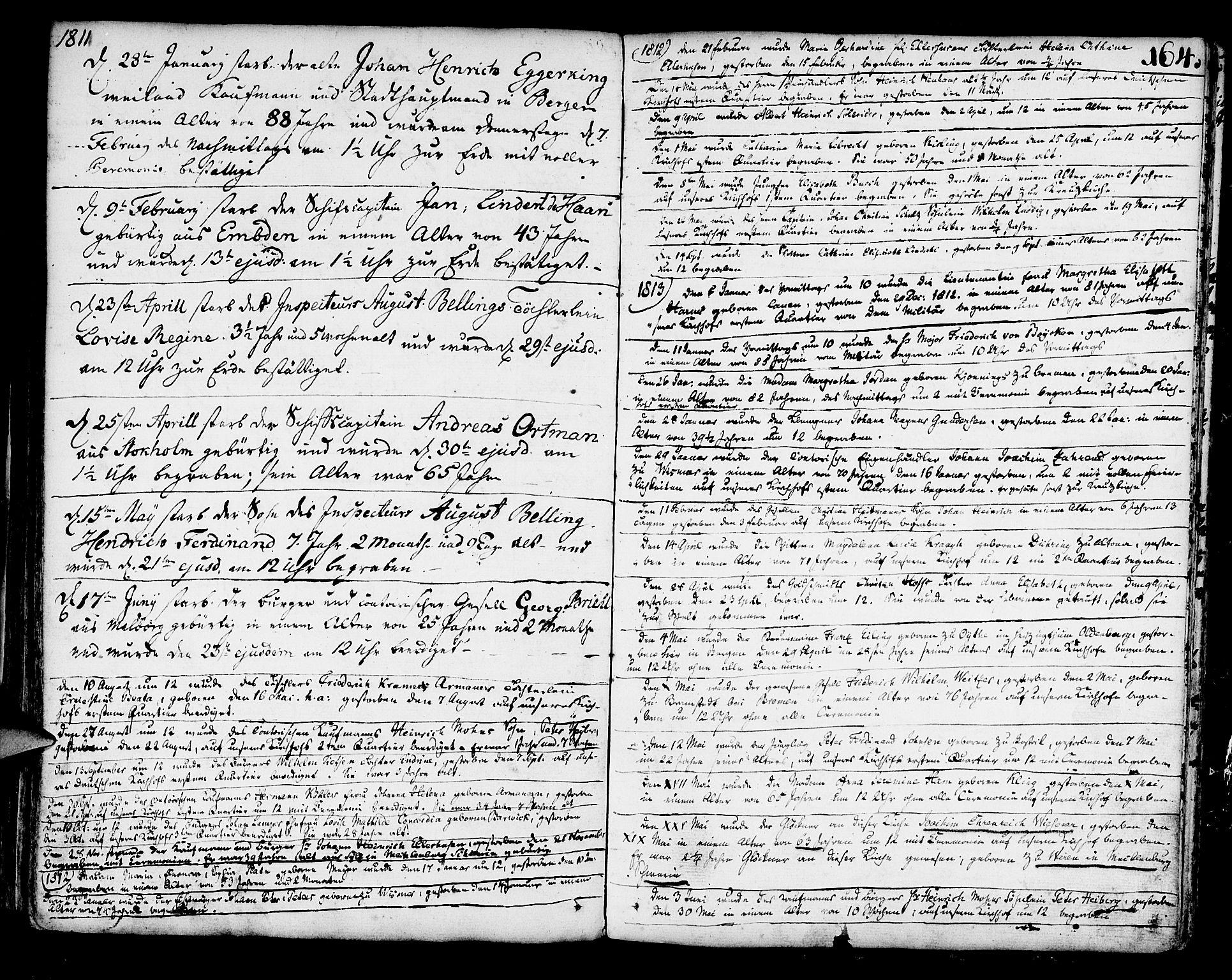 SAB, Mariakirken Sokneprestembete, H/Haa/L0003: Ministerialbok nr. A 3, 1786-1815, s. 164