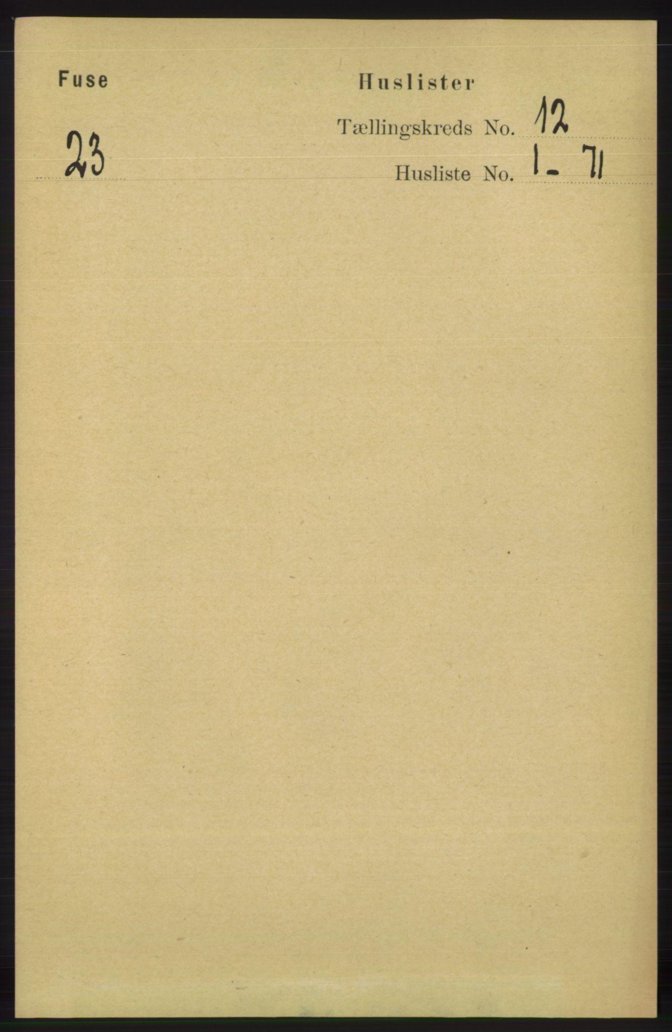 RA, Folketelling 1891 for 1241 Fusa herred, 1891, s. 2300