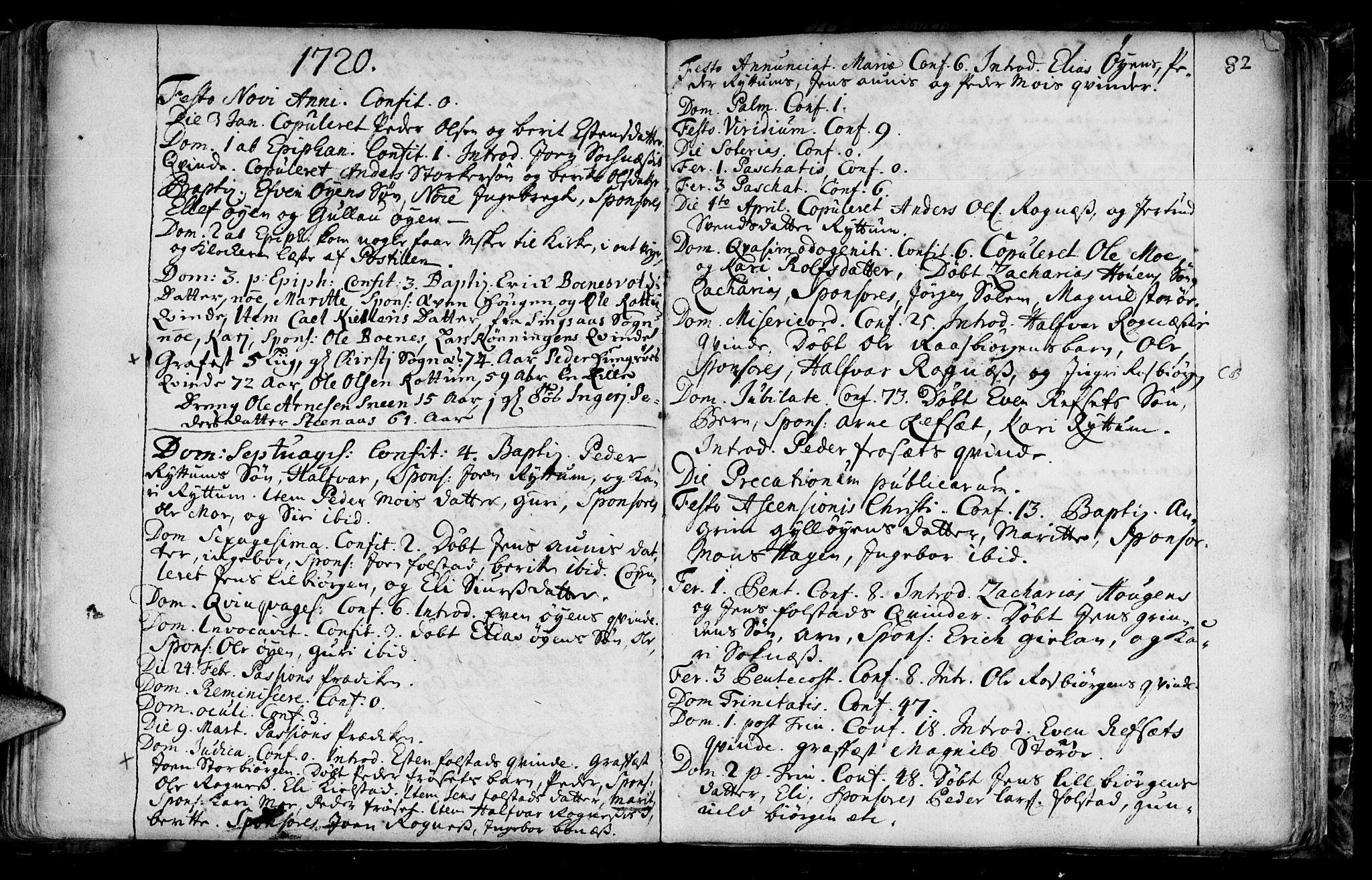 SAT, Ministerialprotokoller, klokkerbøker og fødselsregistre - Sør-Trøndelag, 687/L0990: Ministerialbok nr. 687A01, 1690-1746, s. 82