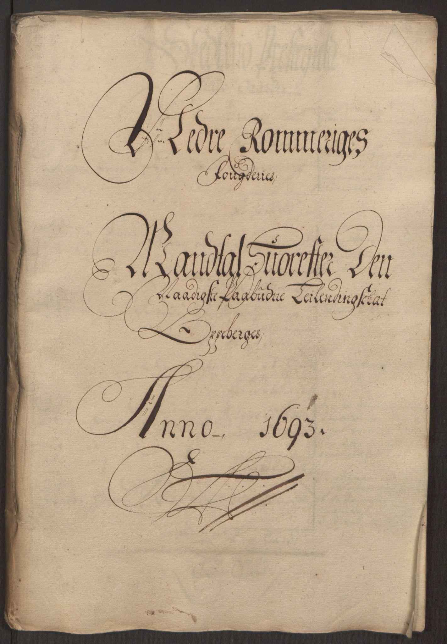 RA, Rentekammeret inntil 1814, Reviderte regnskaper, Fogderegnskap, R11/L0578: Fogderegnskap Nedre Romerike, 1693, s. 69