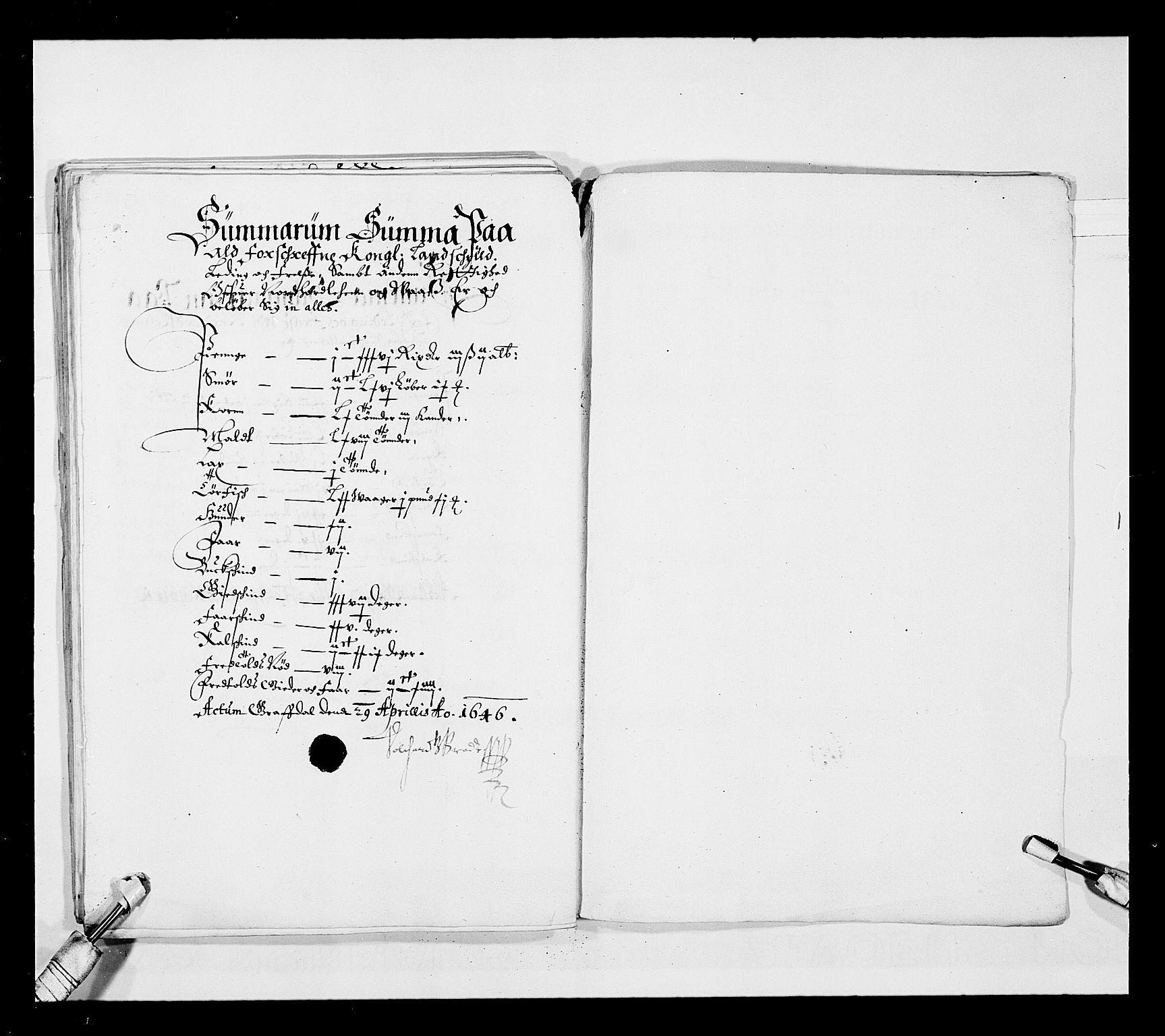 RA, Stattholderembetet 1572-1771, Ek/L0025: Jordebøker 1633-1658:, 1645-1646, s. 112