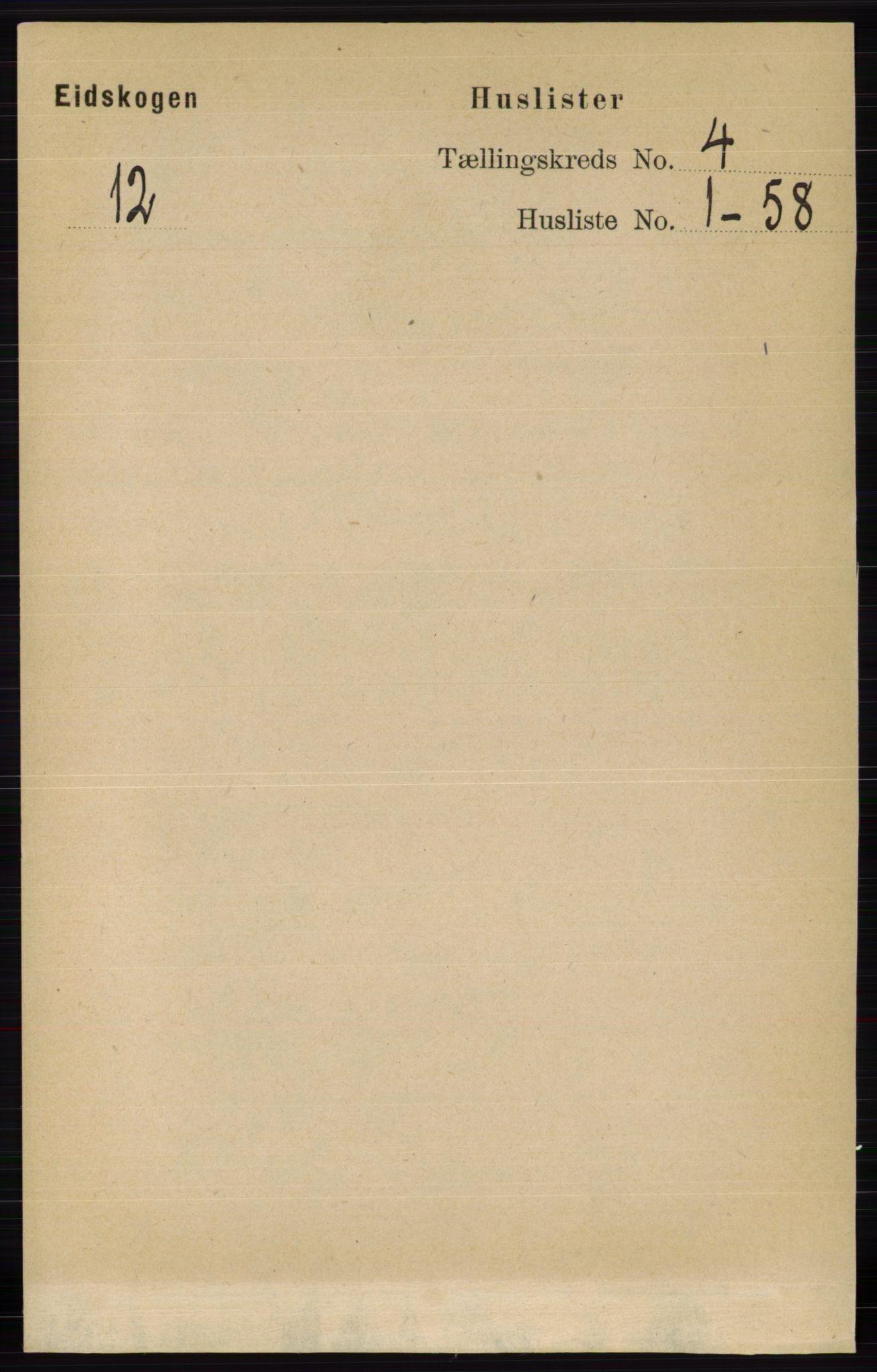 RA, Folketelling 1891 for 0420 Eidskog herred, 1891, s. 1520