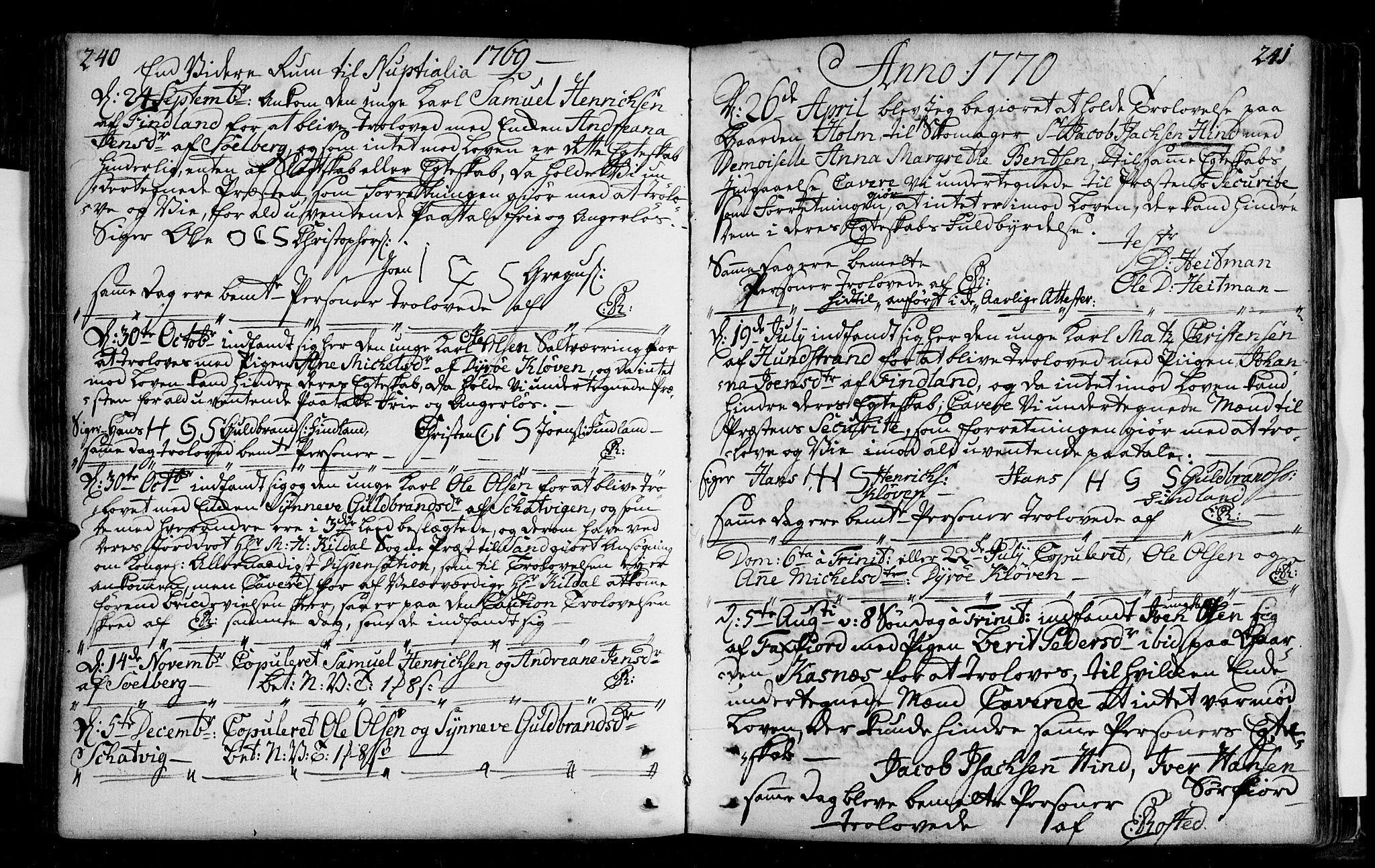 SATØ, Tranøy sokneprestkontor, I/Ia/Iaa/L0001kirke: Ministerialbok nr. 1, 1757-1773, s. 240-241