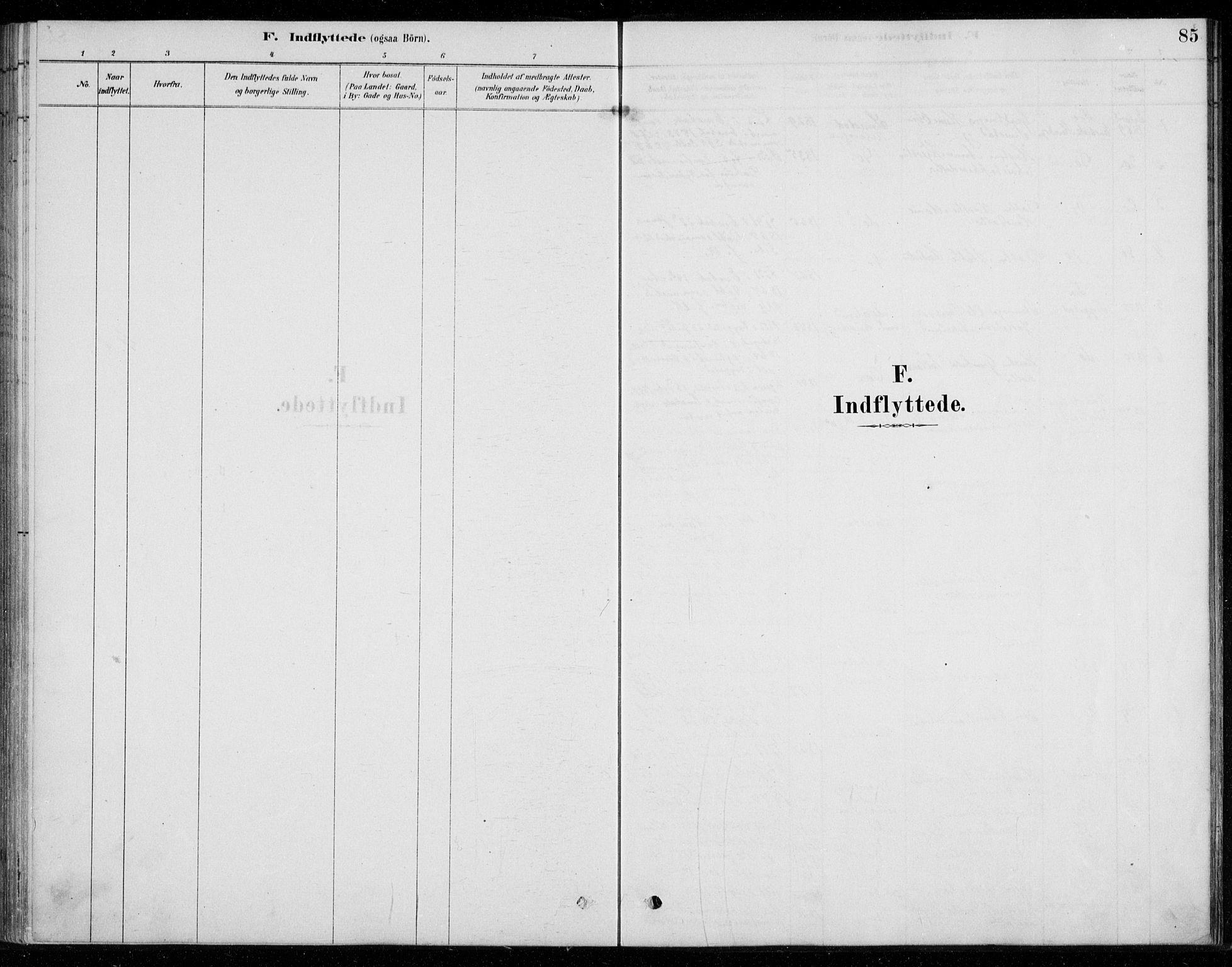 SAO, Fet prestekontor Kirkebøker, G/Gb/L0002: Klokkerbok nr. II 2, 1878-1911, s. 85