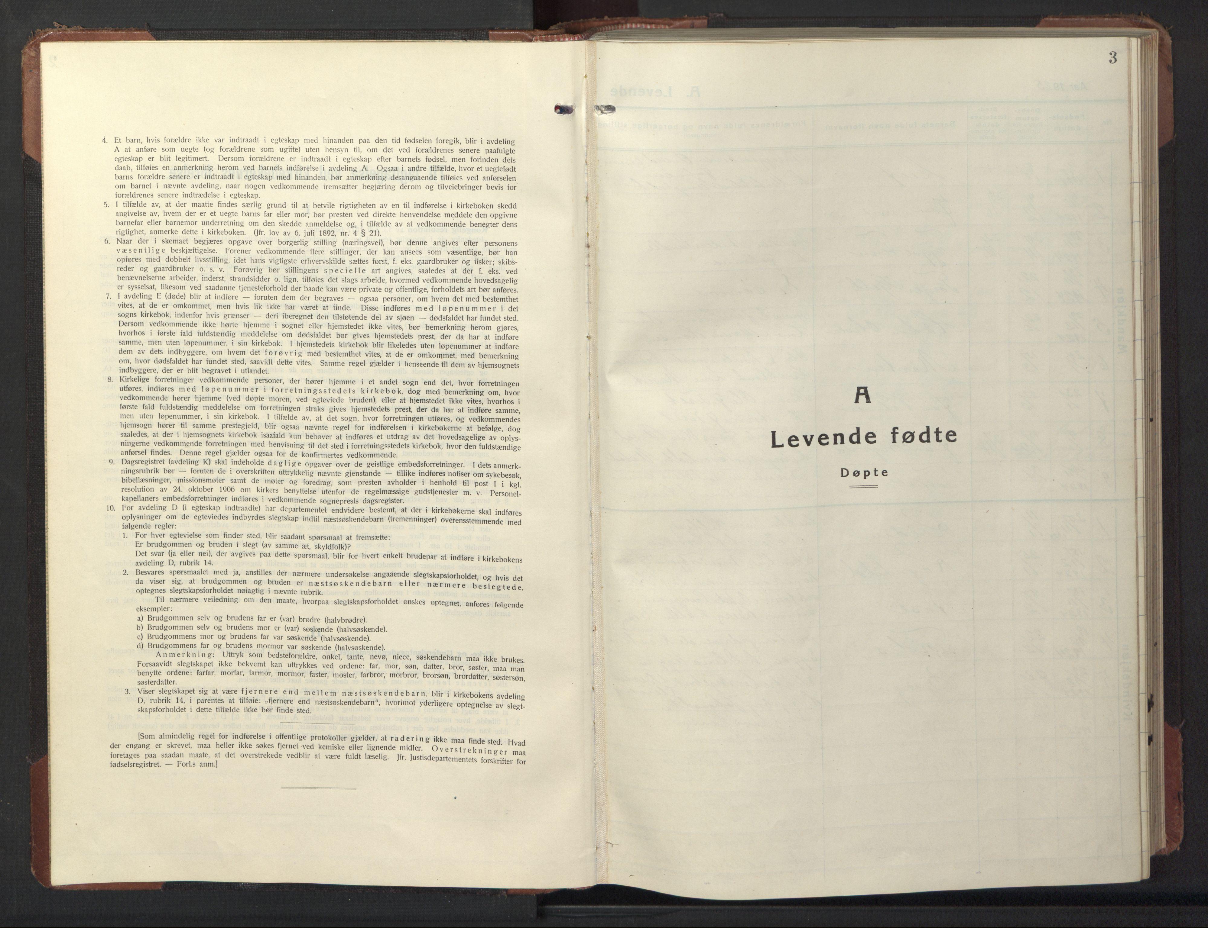 SAT, Ministerialprotokoller, klokkerbøker og fødselsregistre - Sør-Trøndelag, 669/L0832: Klokkerbok nr. 669C02, 1925-1953, s. 3