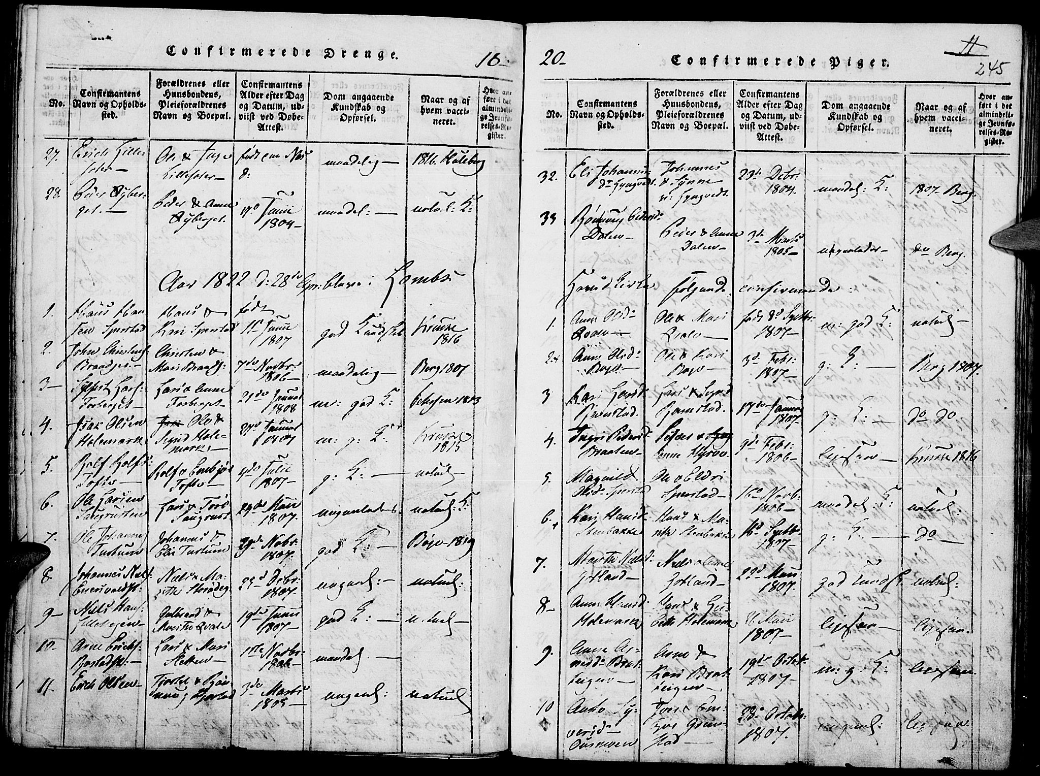 SAH, Lom prestekontor, K/L0004: Ministerialbok nr. 4, 1815-1825, s. 245
