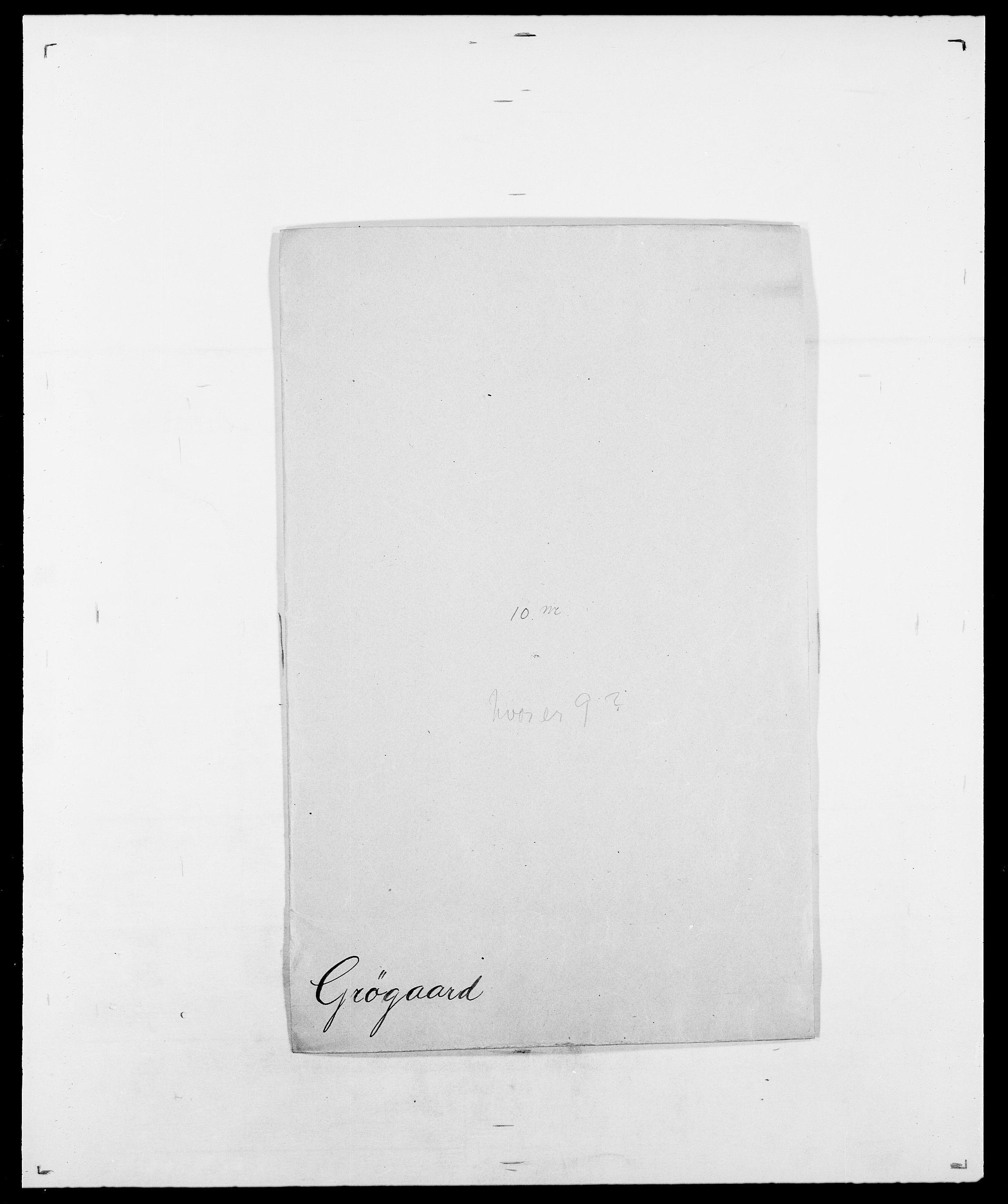 SAO, Delgobe, Charles Antoine - samling, D/Da/L0015: Grodtshilling - Halvorsæth, s. 150