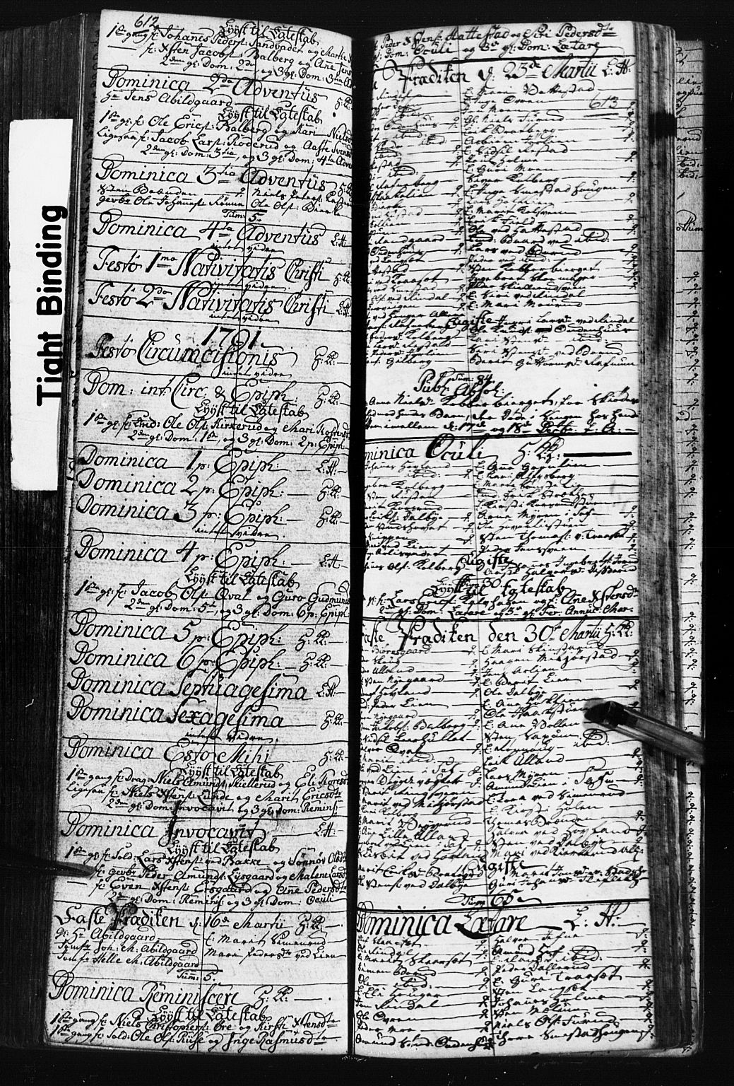 SAH, Fåberg prestekontor, Klokkerbok nr. 3, 1768-1796, s. 612-613