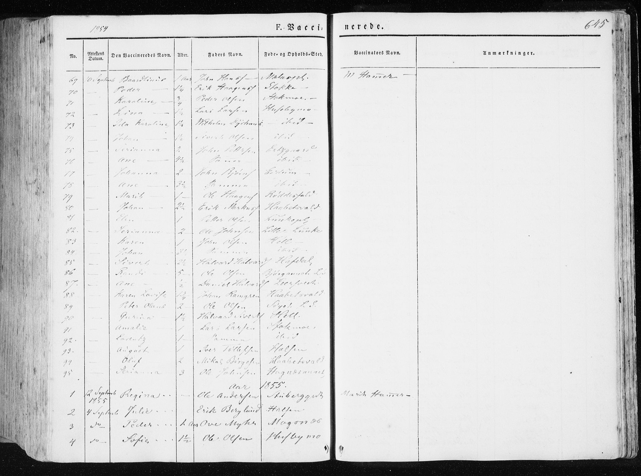 SAT, Ministerialprotokoller, klokkerbøker og fødselsregistre - Nord-Trøndelag, 709/L0074: Ministerialbok nr. 709A14, 1845-1858, s. 645