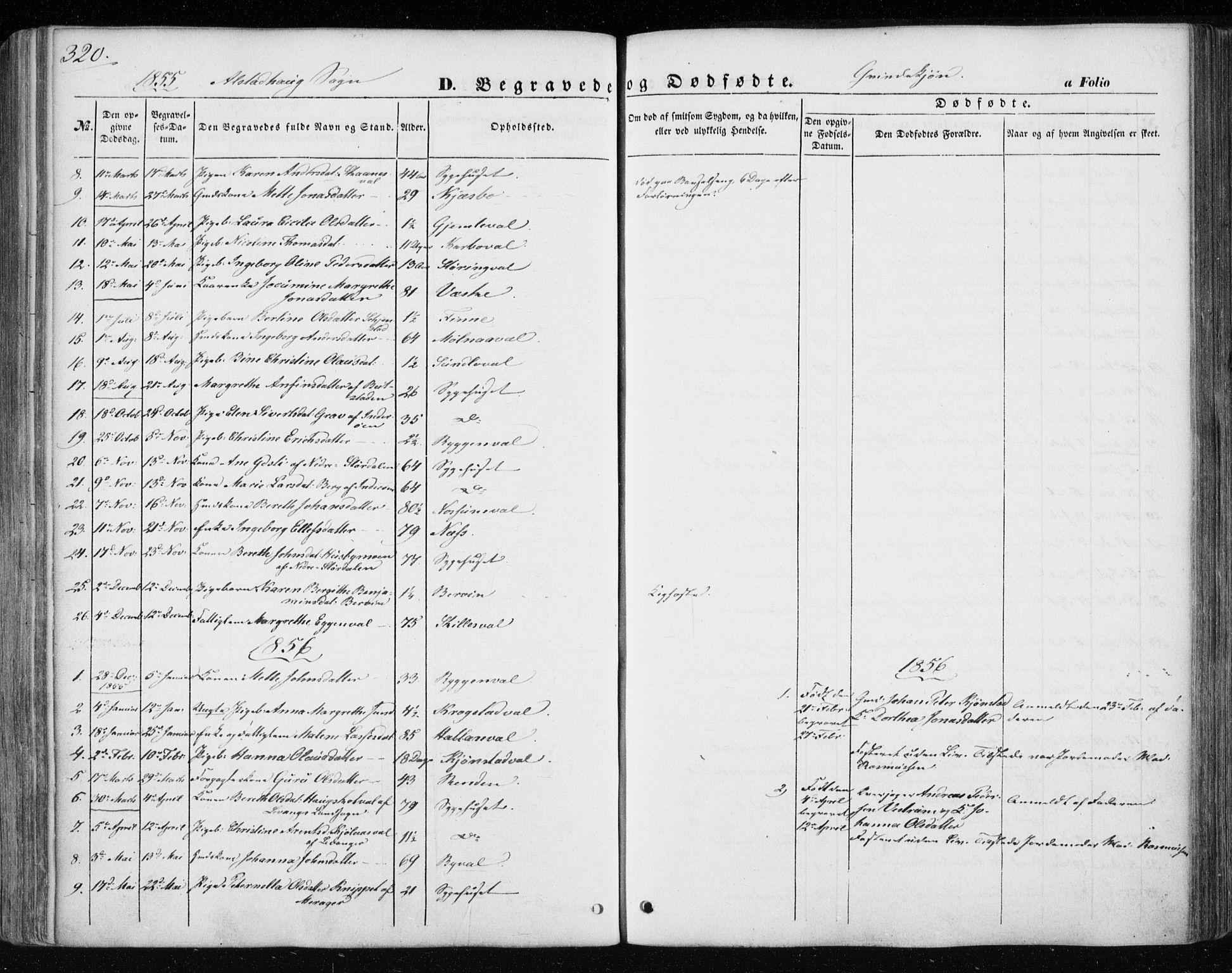 SAT, Ministerialprotokoller, klokkerbøker og fødselsregistre - Nord-Trøndelag, 717/L0154: Ministerialbok nr. 717A07 /1, 1850-1862, s. 320