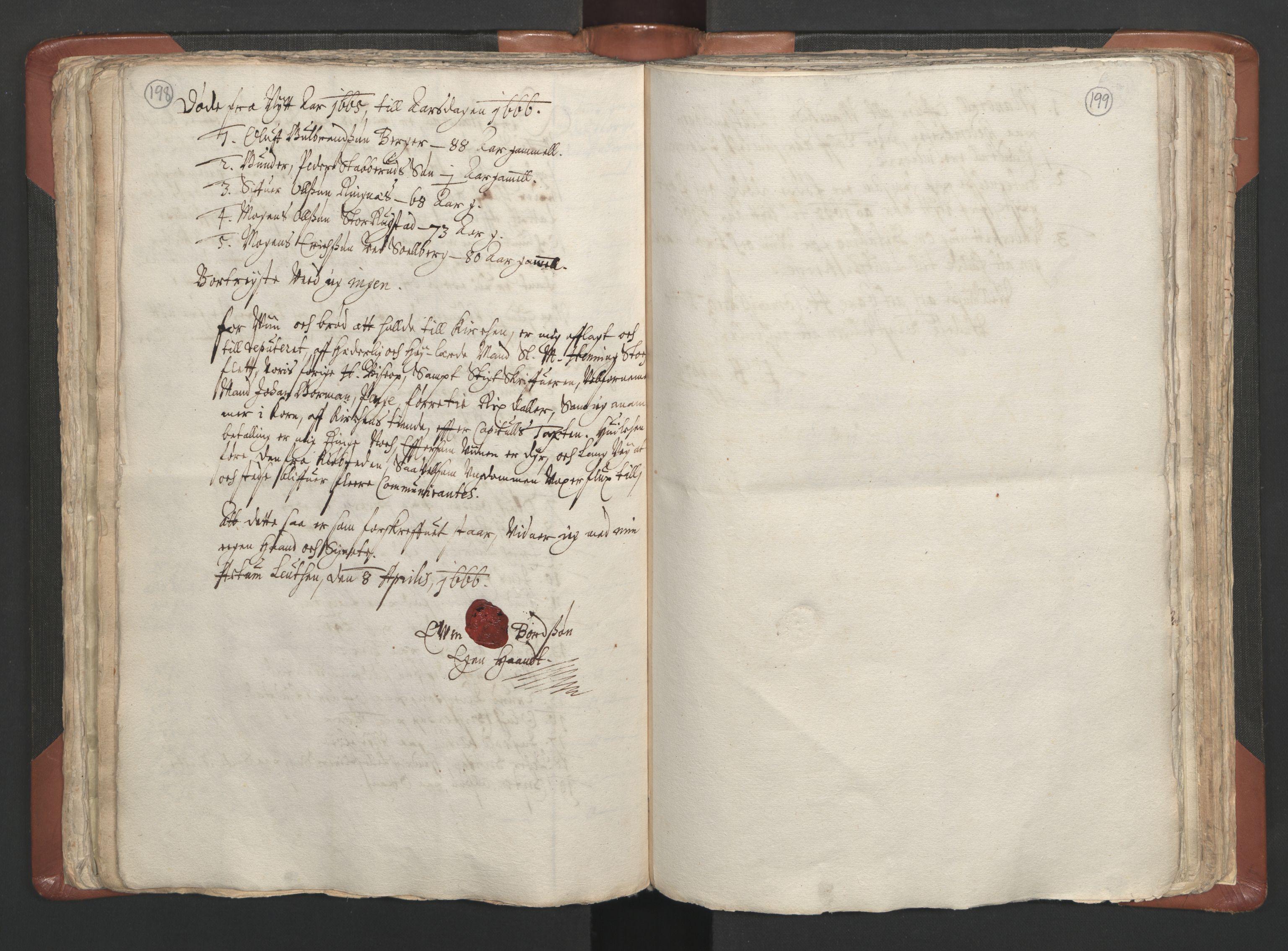 RA, Sogneprestenes manntall 1664-1666, nr. 5: Hedmark prosti, 1664-1666, s. 198-199
