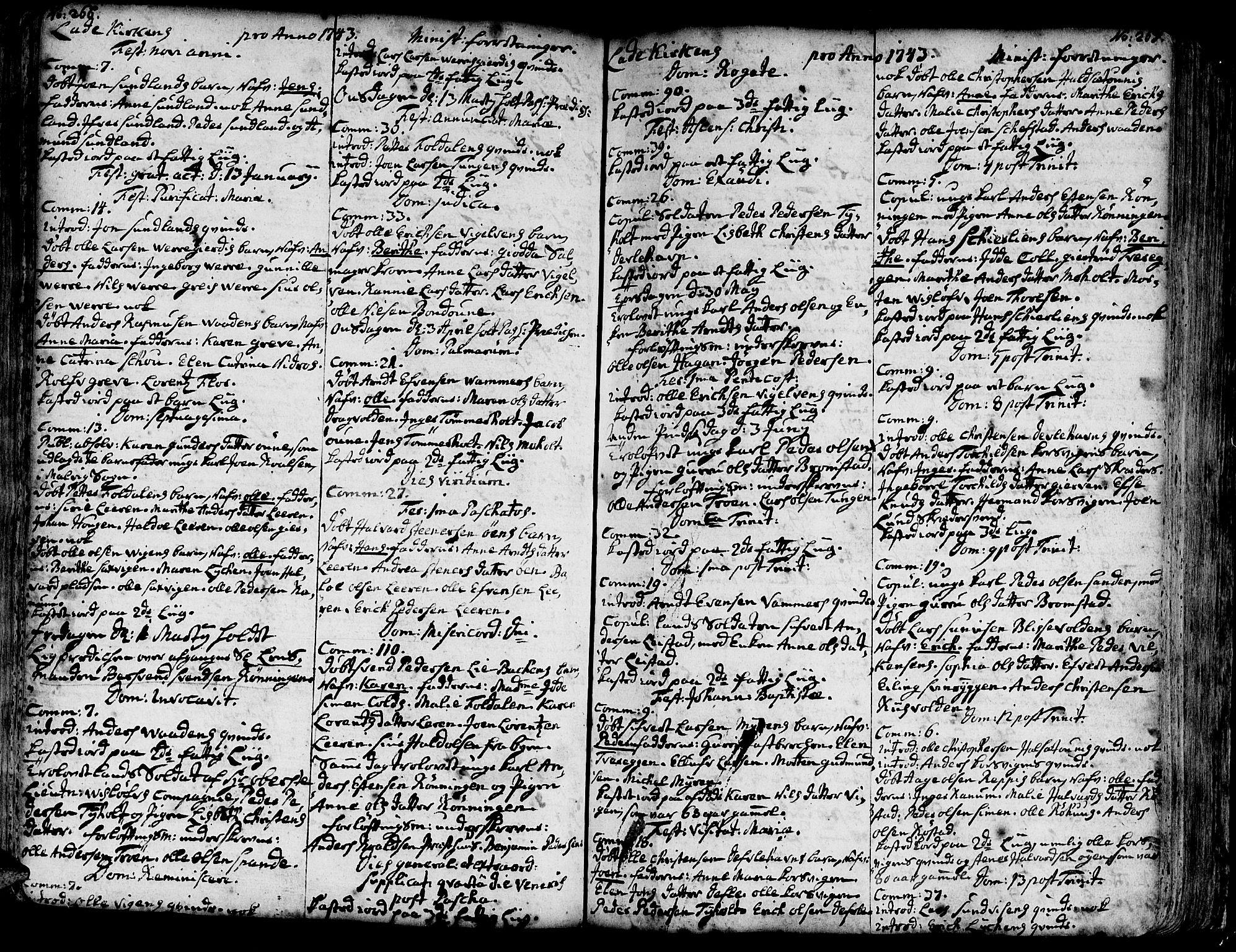 SAT, Ministerialprotokoller, klokkerbøker og fødselsregistre - Sør-Trøndelag, 606/L0275: Ministerialbok nr. 606A01 /1, 1727-1780, s. 266-267