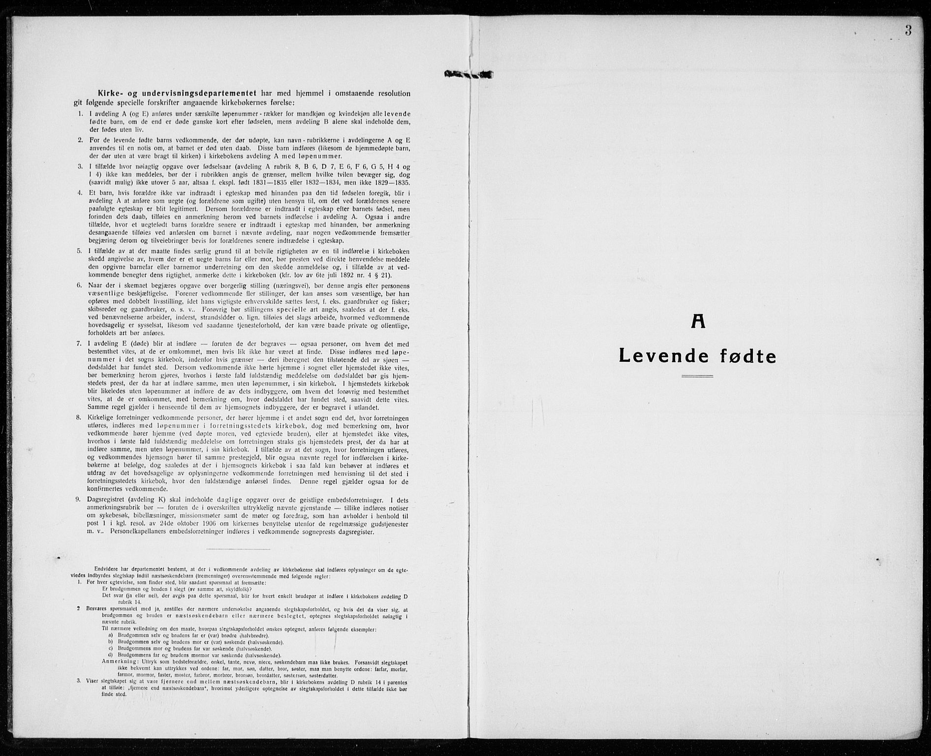 SAKO, Sandefjord kirkebøker, G/Ga/L0004: Klokkerbok nr. 4, 1920-1931, s. 3
