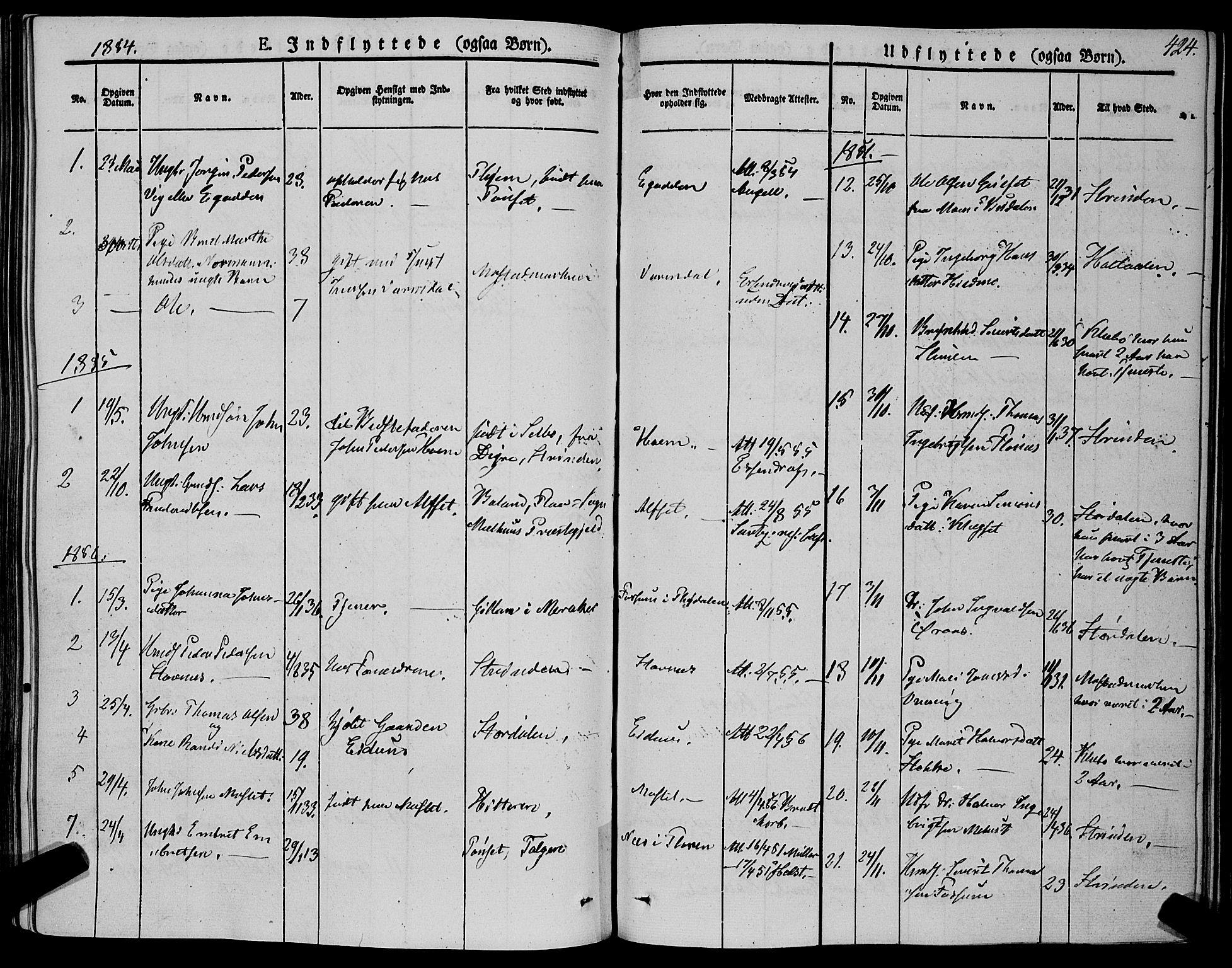 SAT, Ministerialprotokoller, klokkerbøker og fødselsregistre - Sør-Trøndelag, 695/L1145: Ministerialbok nr. 695A06 /1, 1843-1859, s. 424
