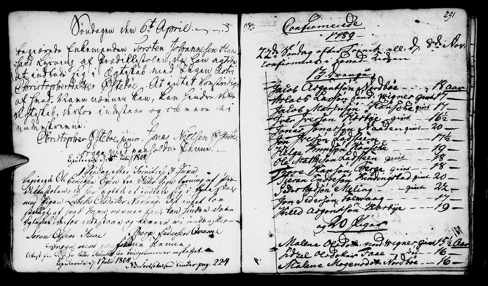 SAST, Finnøy sokneprestkontor, H/Ha/Haa/L0005: Ministerialbok nr. A 5, 1773-1816, s. 291