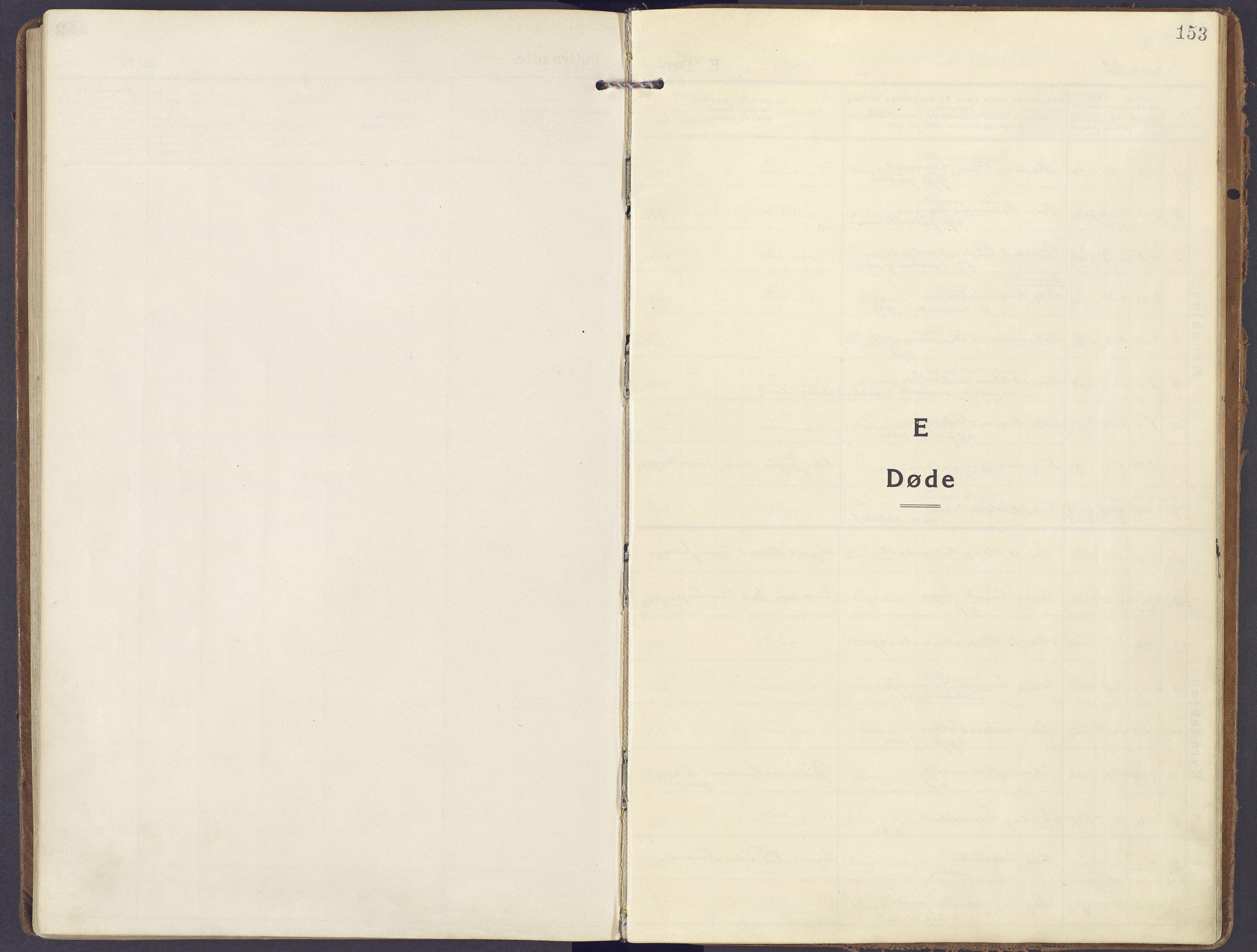 SAH, Lunner prestekontor, H/Ha/Haa/L0002: Ministerialbok nr. 2, 1922-1931, s. 153