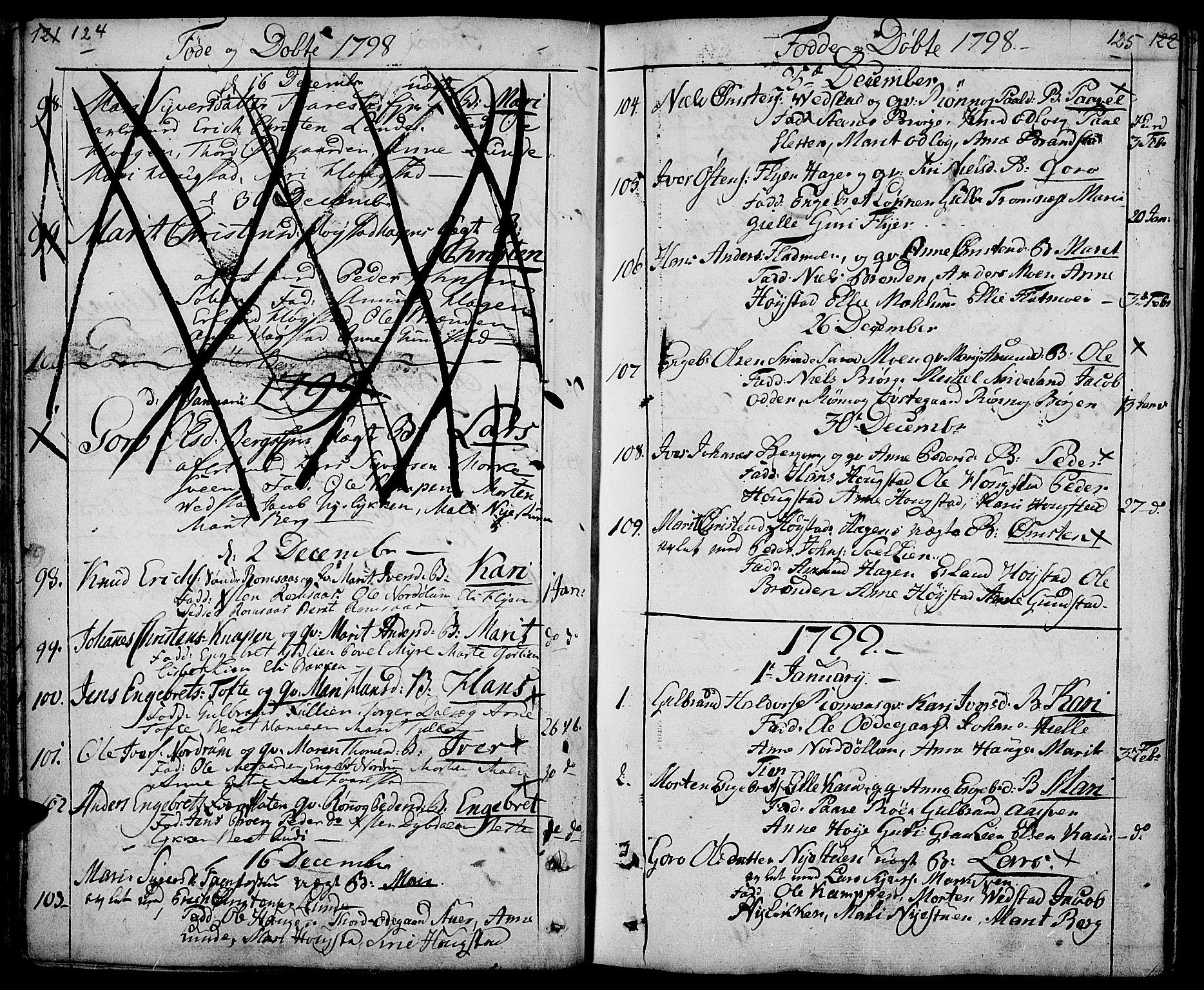 SAH, Ringebu prestekontor, Ministerialbok nr. 3, 1781-1820, s. 124-125