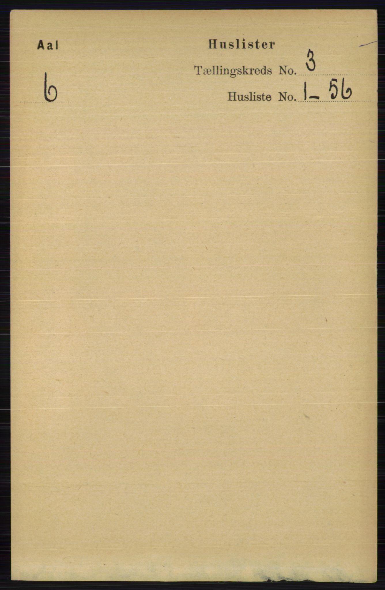 RA, Folketelling 1891 for 0619 Ål herred, 1891, s. 594
