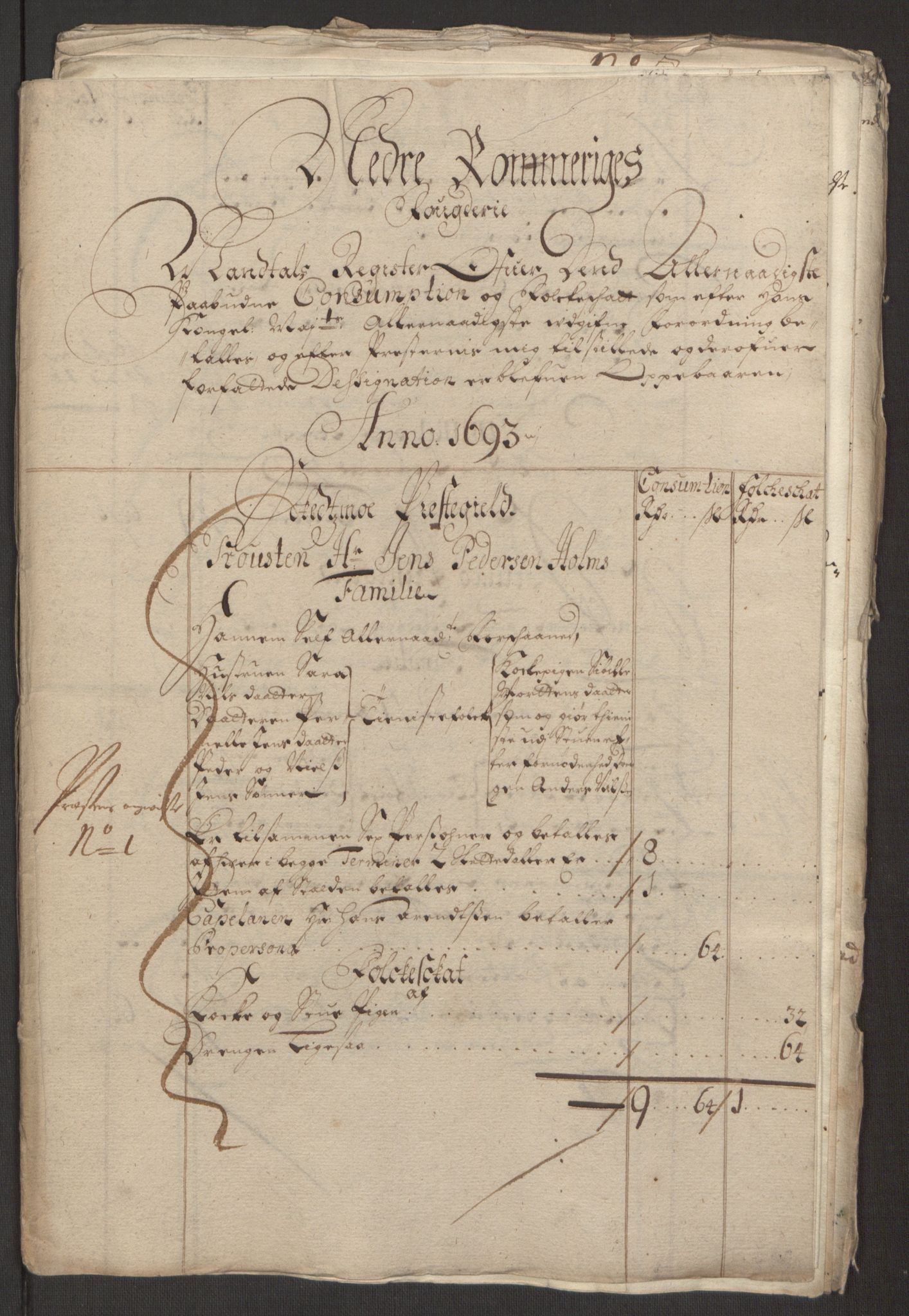 RA, Rentekammeret inntil 1814, Reviderte regnskaper, Fogderegnskap, R11/L0578: Fogderegnskap Nedre Romerike, 1693, s. 190