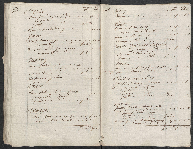 RA, Rentekammeret inntil 1814, Reviderte regnskaper, Fogderegnskap, R61/L4112: Fogderegnskap Strinda og Selbu, 1711, s. 308