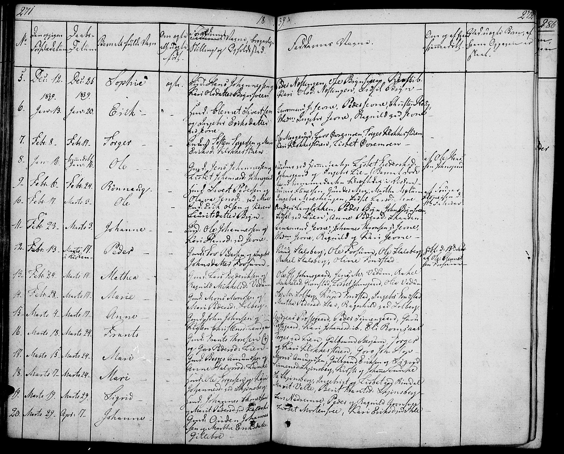 SAH, Øyer prestekontor, Ministerialbok nr. 4, 1824-1841, s. 271-272