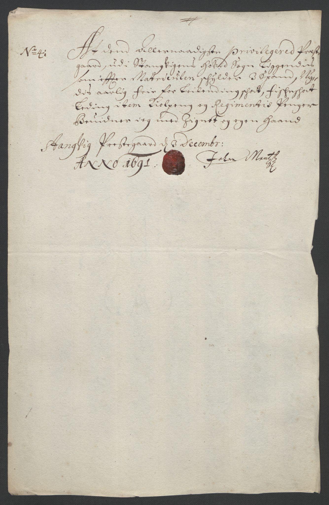 RA, Rentekammeret inntil 1814, Reviderte regnskaper, Fogderegnskap, R56/L3734: Fogderegnskap Nordmøre, 1690-1691, s. 409