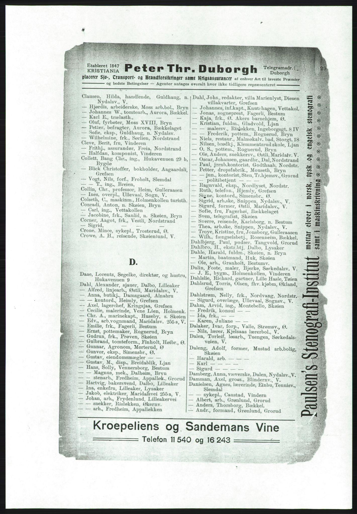 PUBL, Aker adressebok/adressekalender, 1916-1917, s. 29