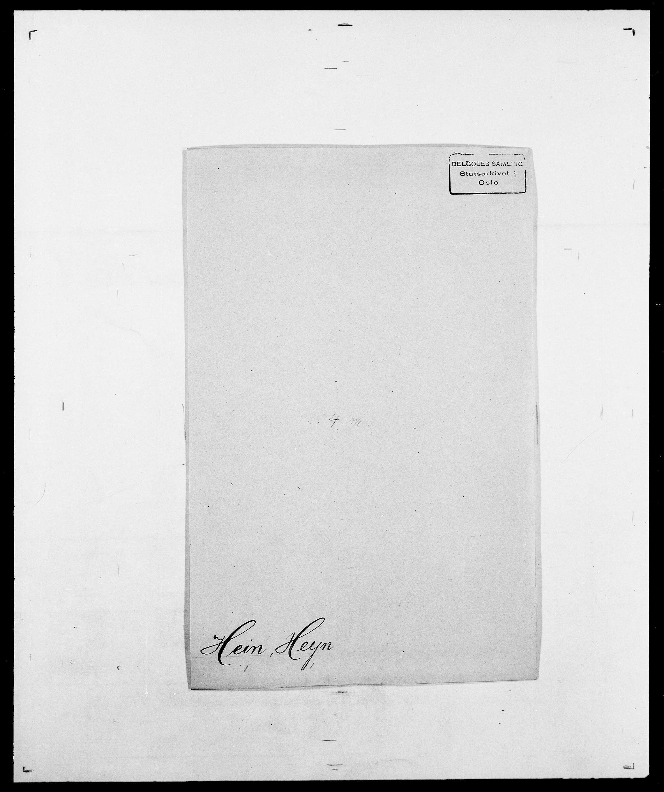 SAO, Delgobe, Charles Antoine - samling, D/Da/L0016: Hamborg - Hektoen, s. 835