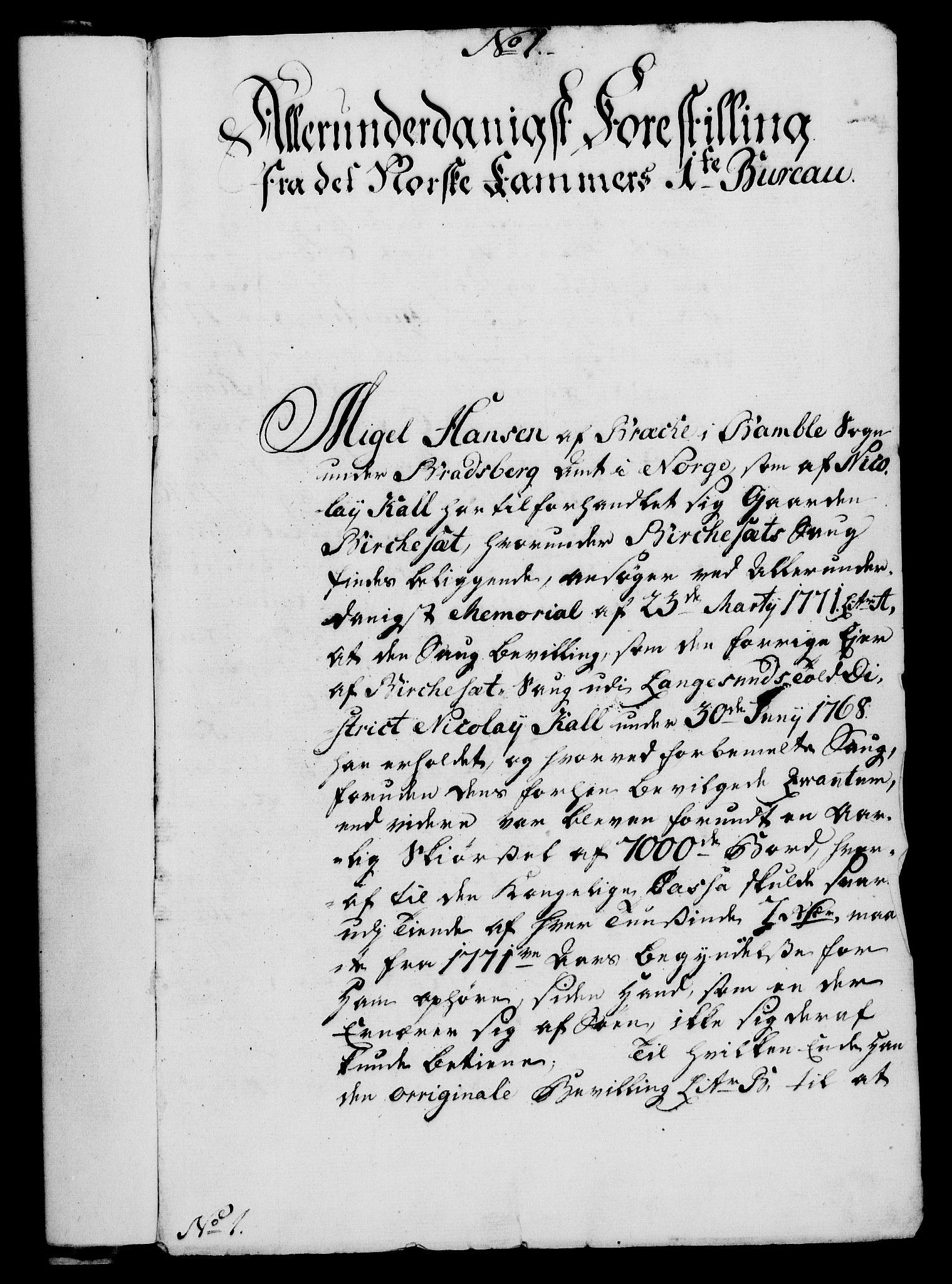 RA, Rentekammeret, Kammerkanselliet, G/Gf/Gfa/L0054: Norsk relasjons- og resolusjonsprotokoll (merket RK 52.54), 1771-1772, s. 26
