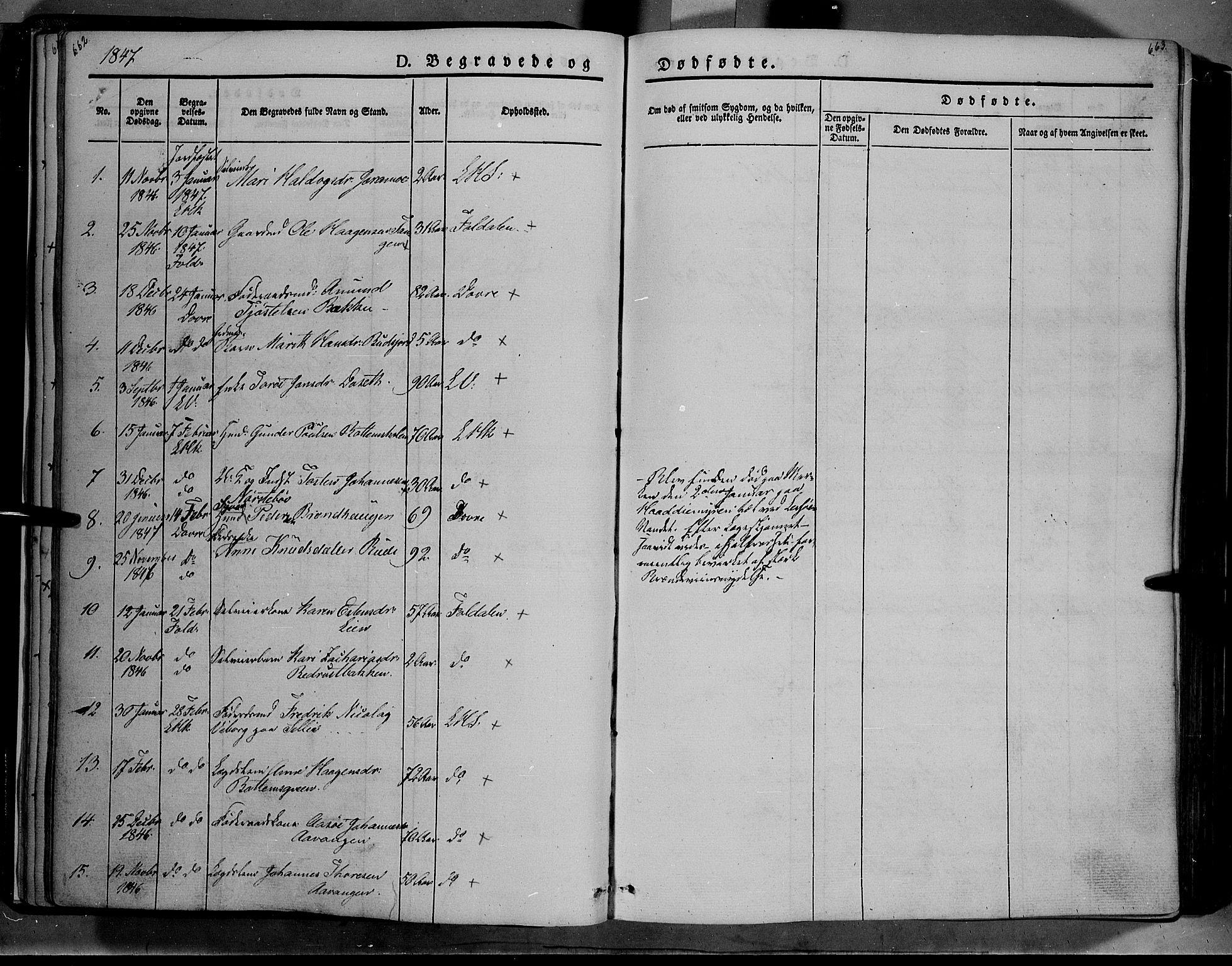 SAH, Lesja prestekontor, Ministerialbok nr. 6B, 1843-1854, s. 662-663